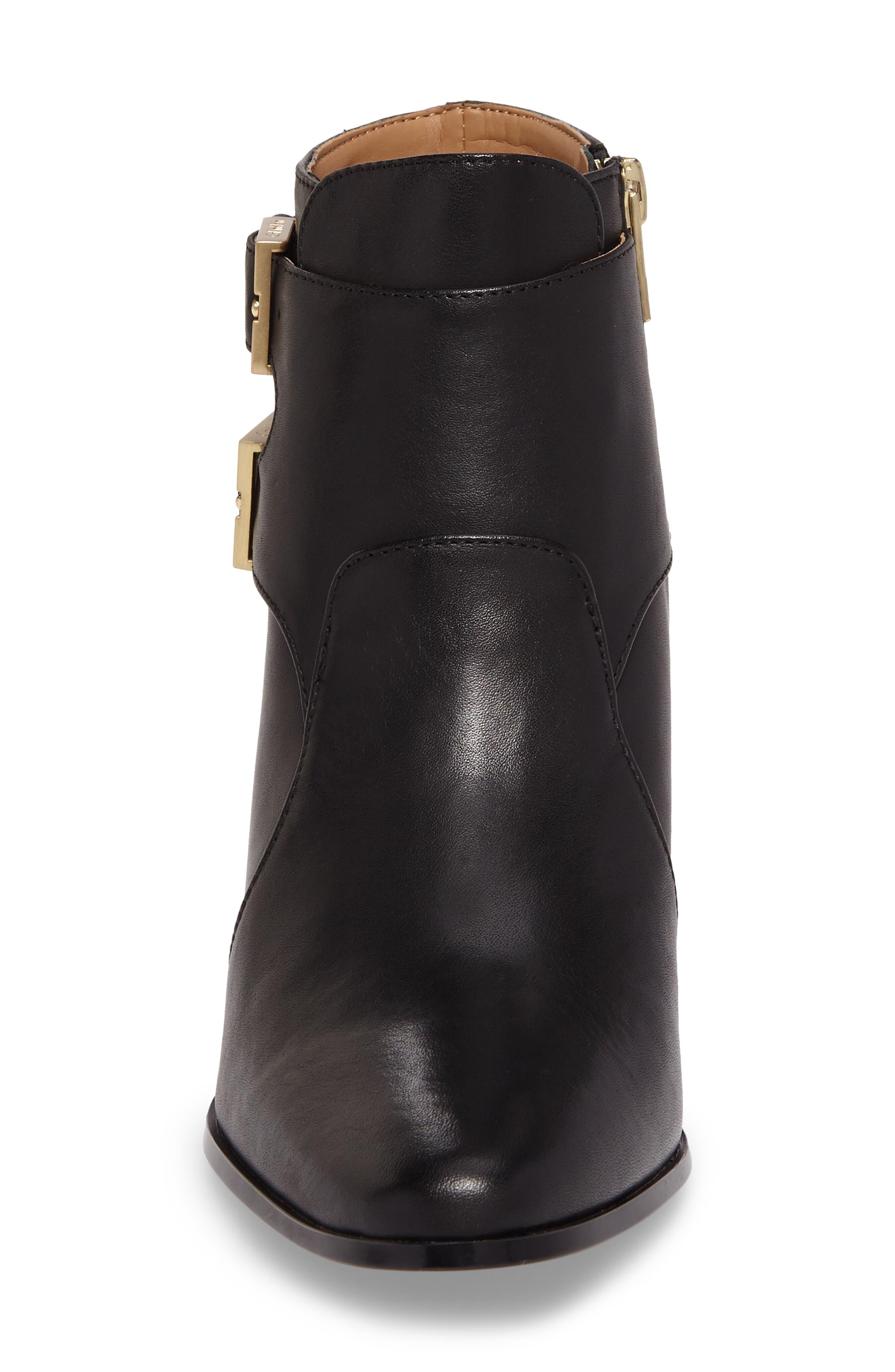 Florine Bootie,                             Alternate thumbnail 4, color,                             Black Leather