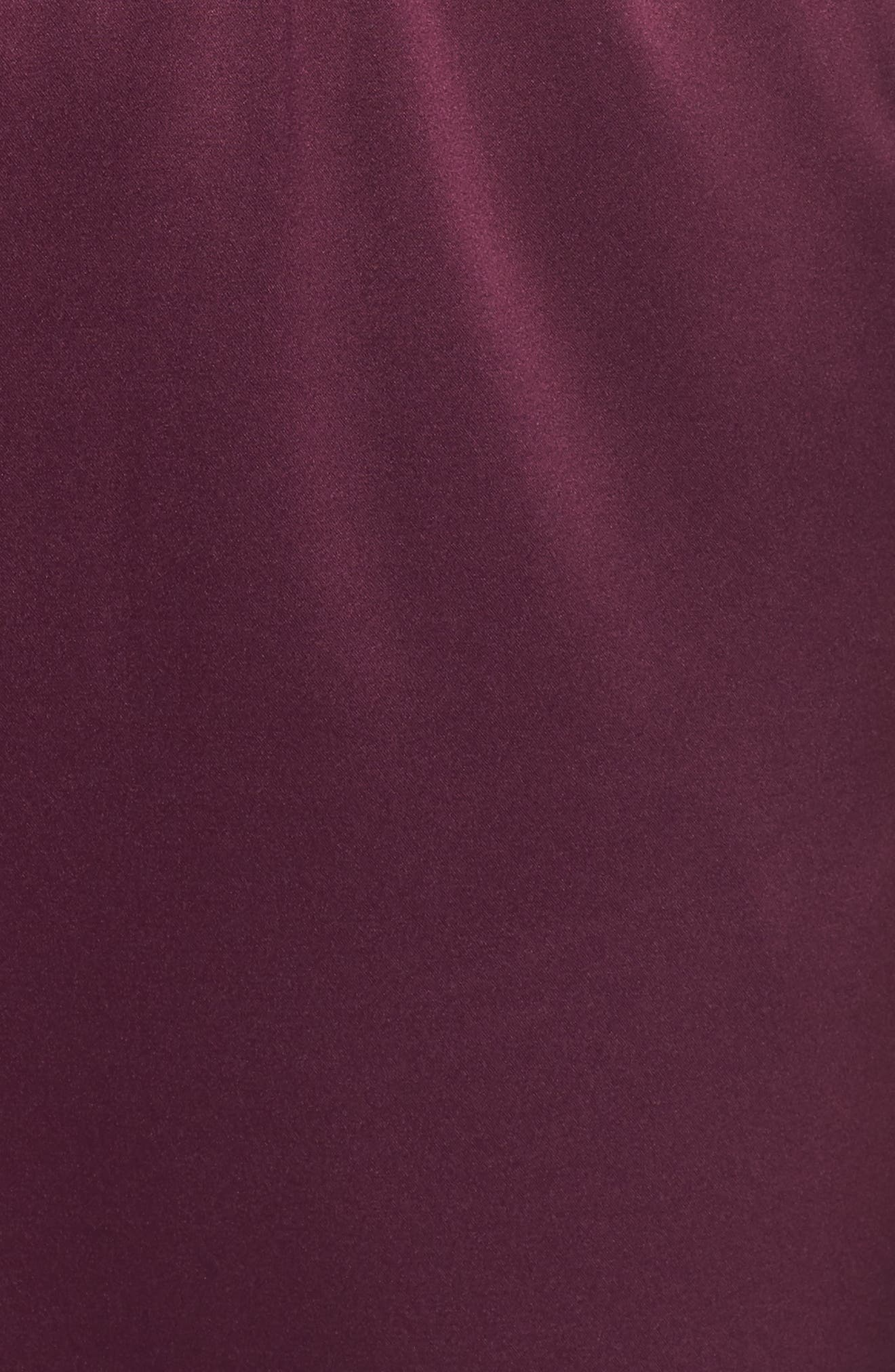 One-Shoulder Jumpsuit,                             Alternate thumbnail 6, color,                             Wine