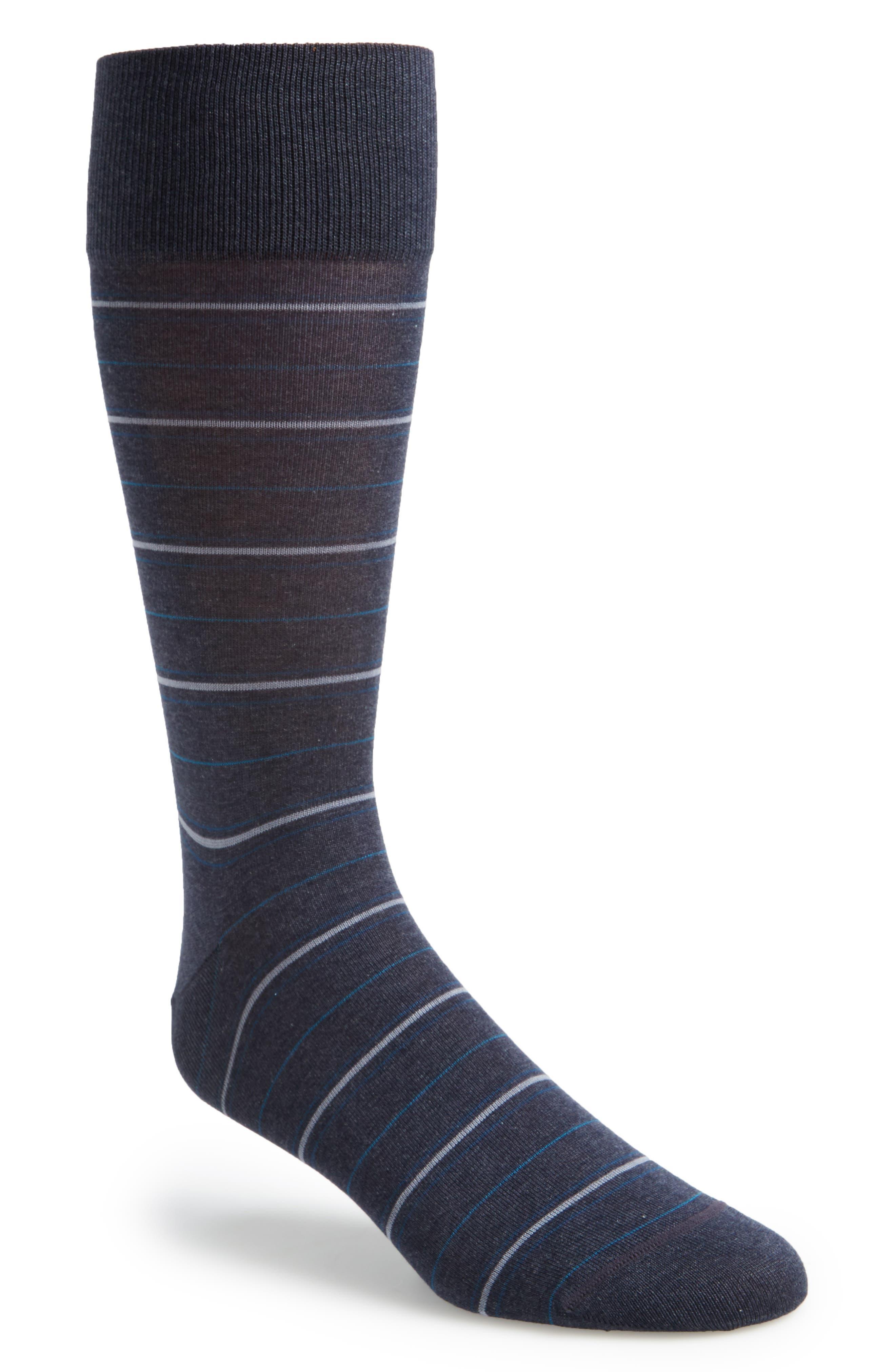 Interlines Socks,                         Main,                         color, Blue Denim