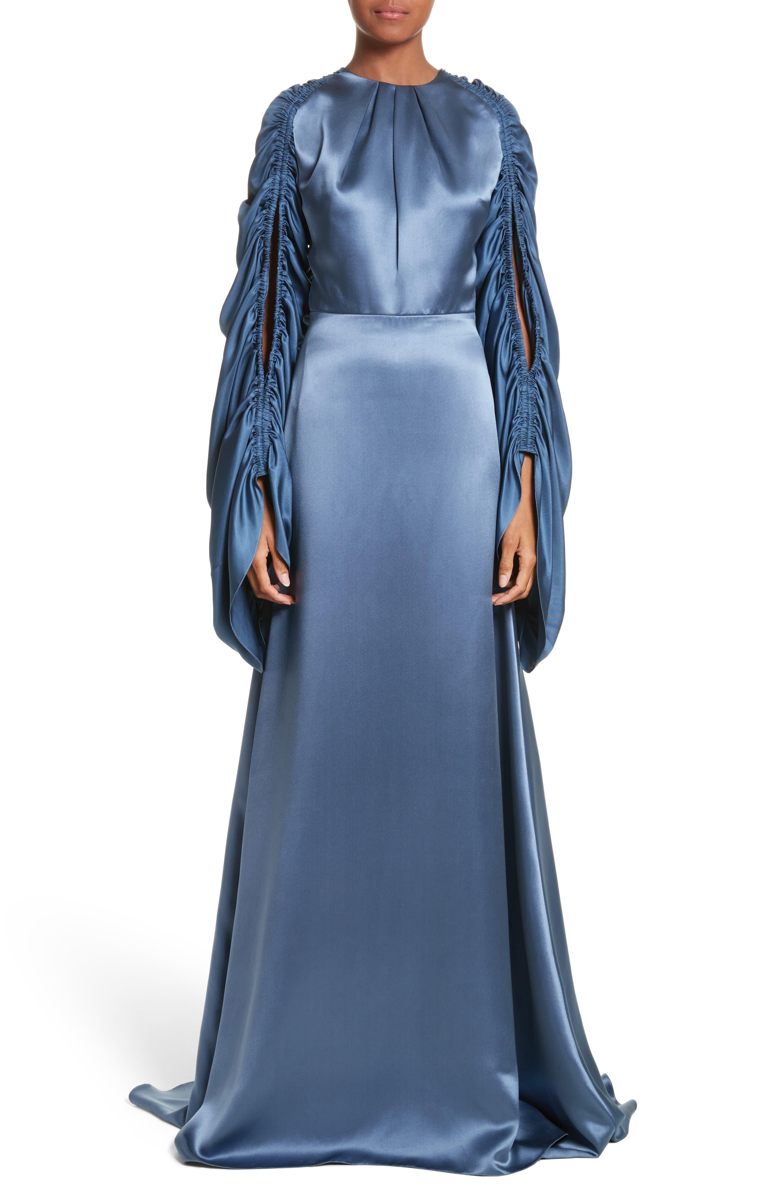 Roksanda Zariah Ruffle Sleeve Silk Gown