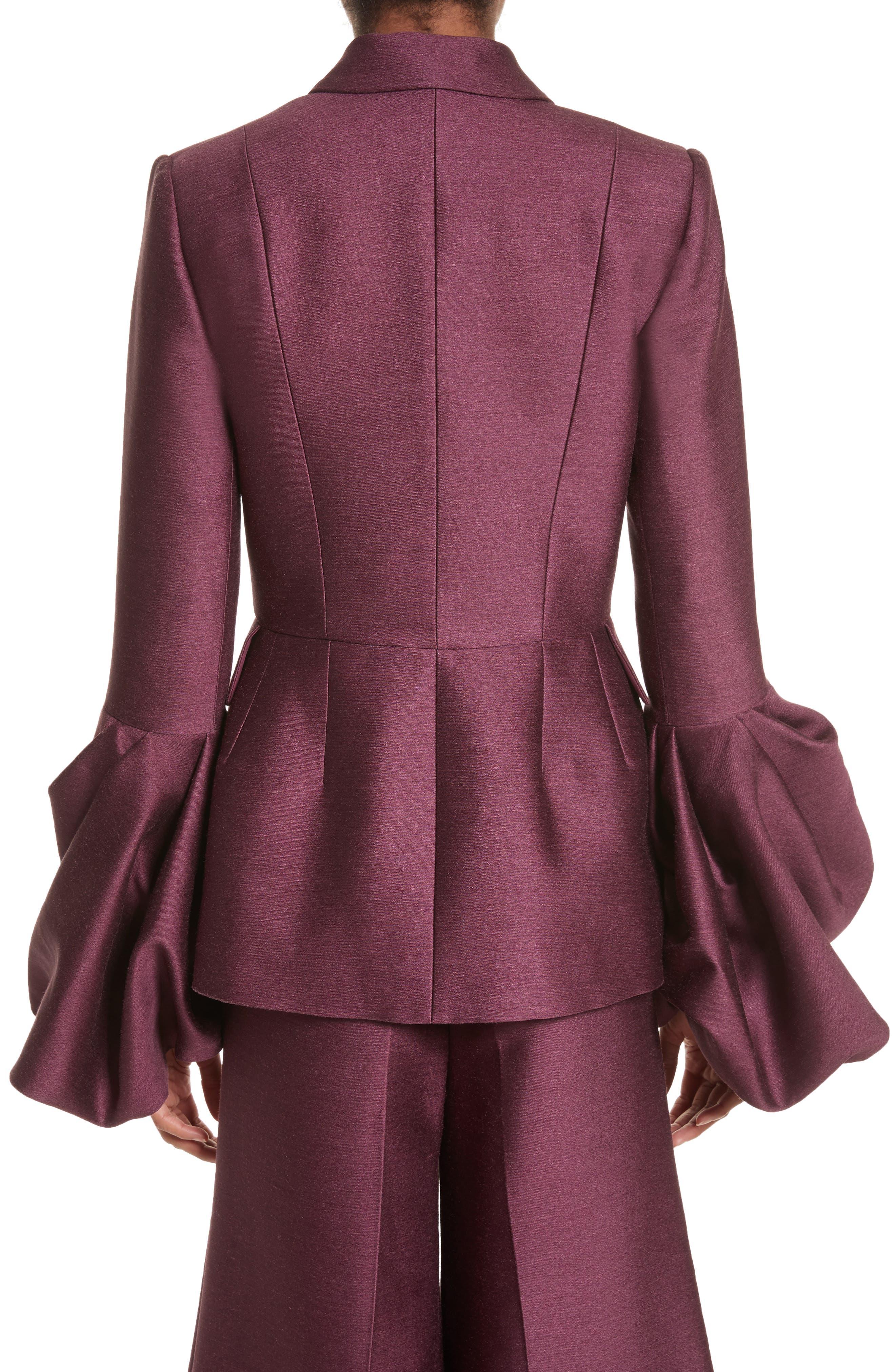 Narika Wool & Silk Jacket,                             Alternate thumbnail 2, color,                             Plum
