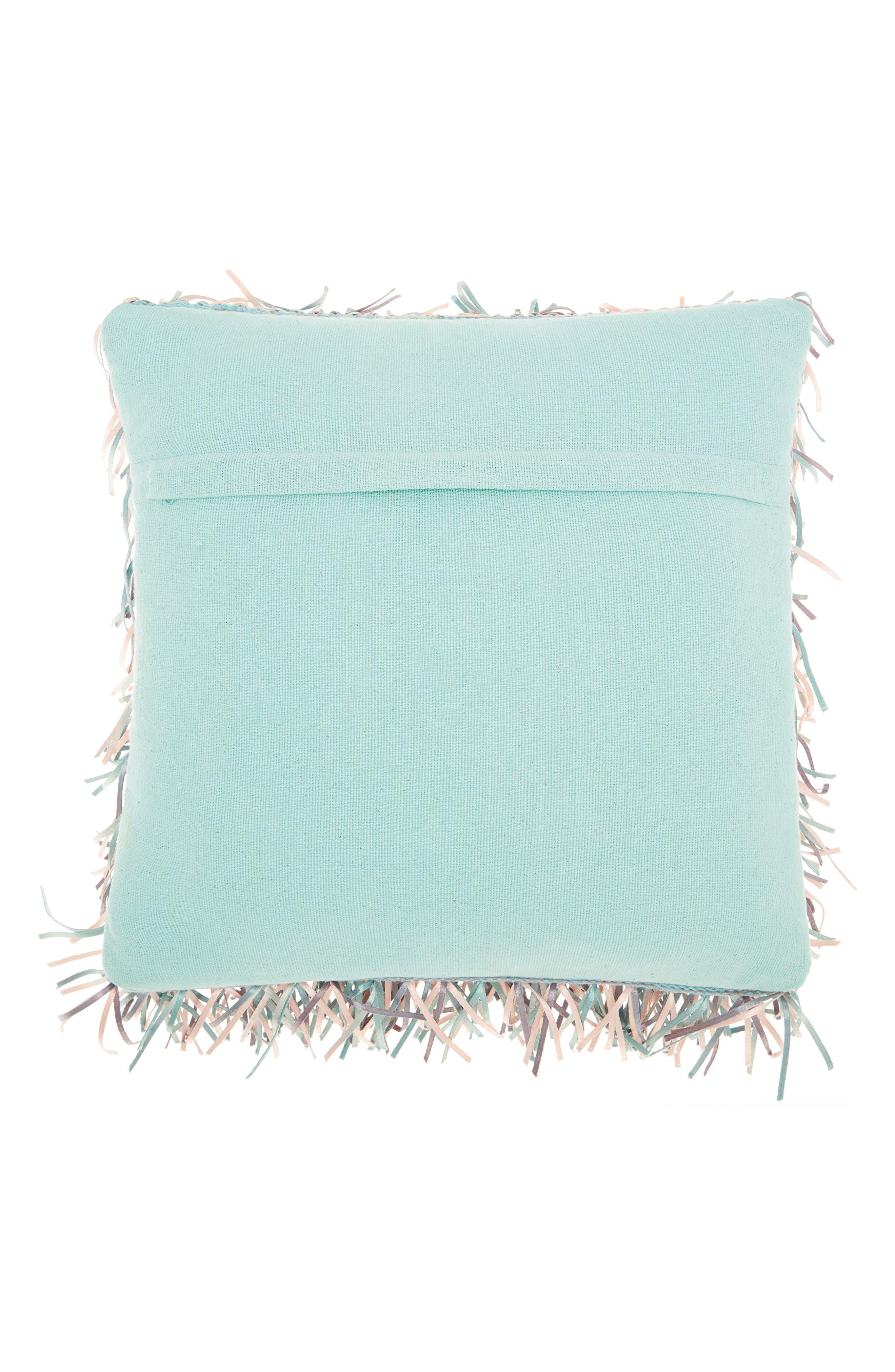 Metallic Ribbon Shag Pillow,                             Alternate thumbnail 2, color,                             Rose Lavender