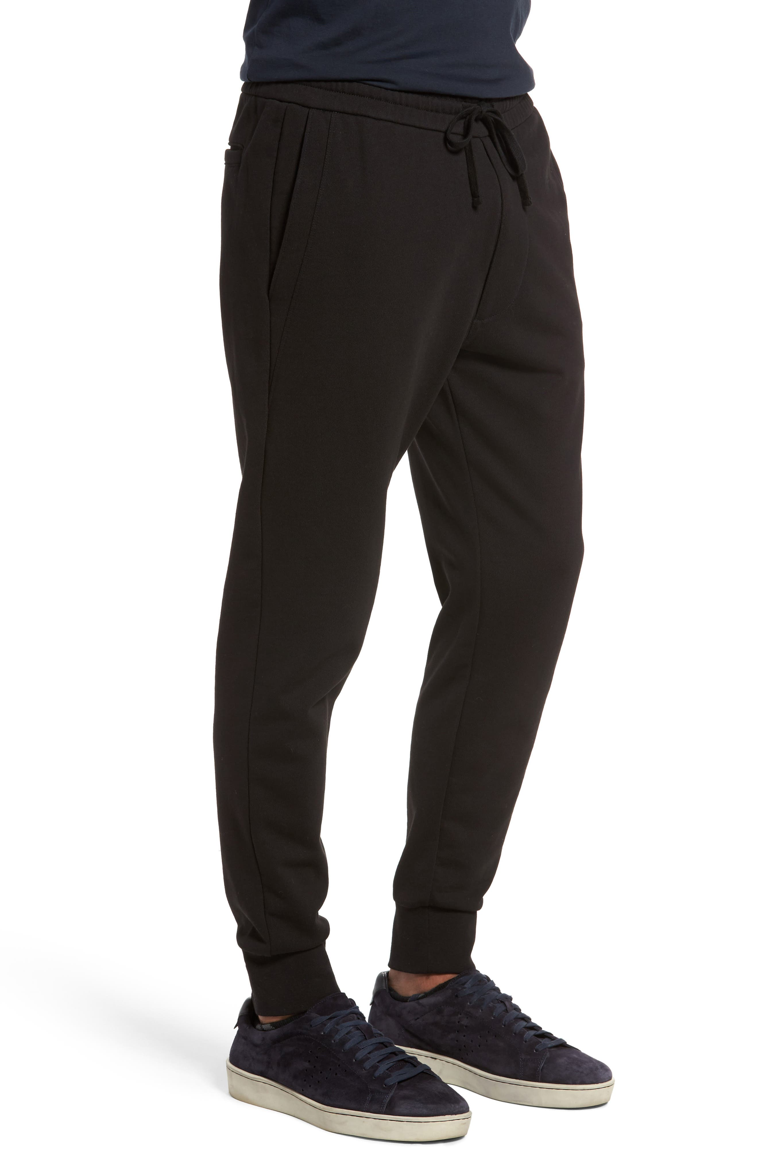 Cotton Sweatpants,                             Alternate thumbnail 3, color,                             Black