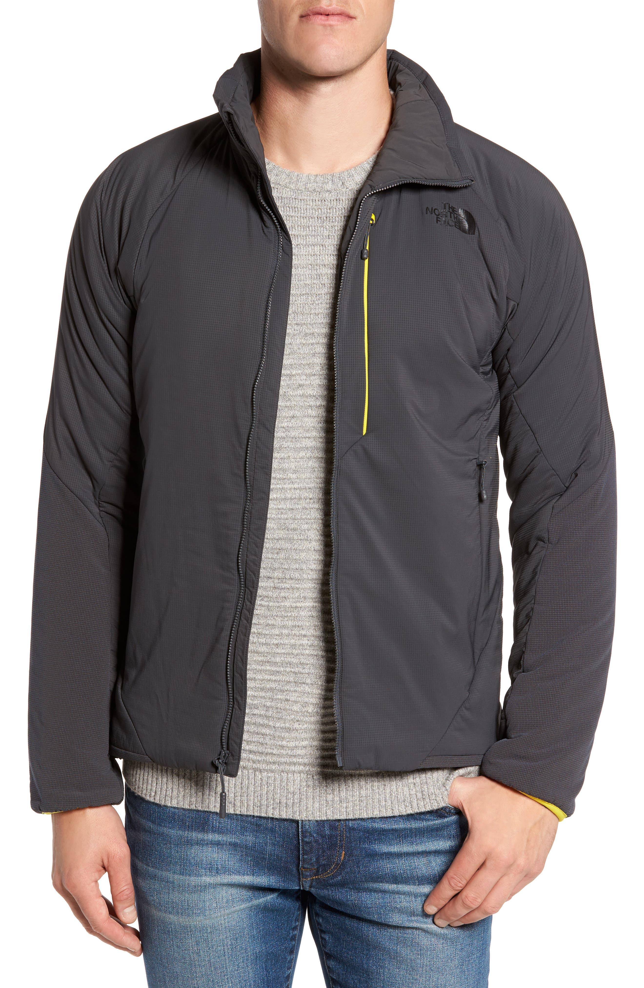 Ventrix Water Resistant Ripstop Jacket,                         Main,                         color, Asphalt Grey / Acid Yellow