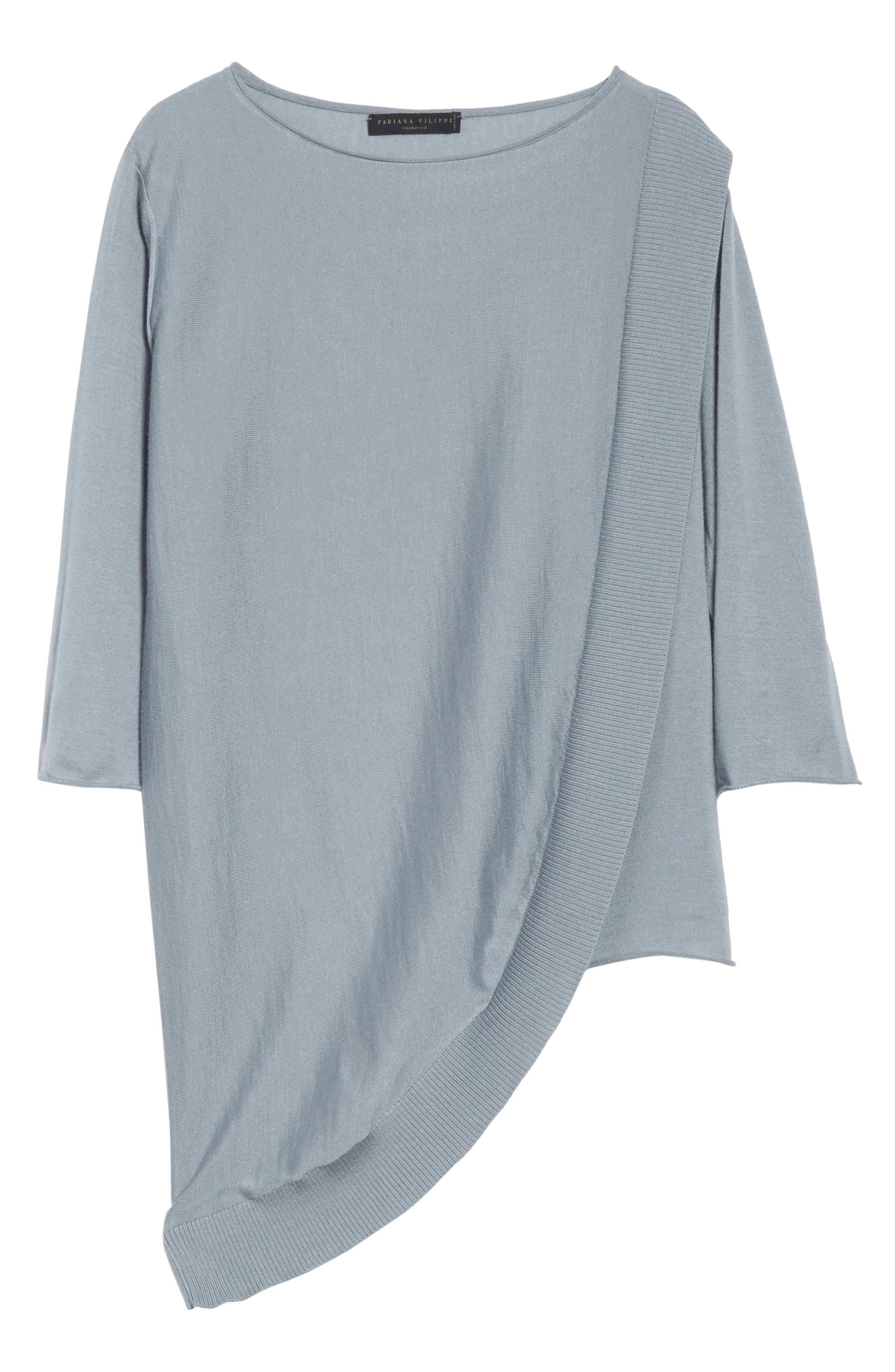 Alternate Image 6  - Fabiana Filippi Cashmere & Silk Drape Sweater