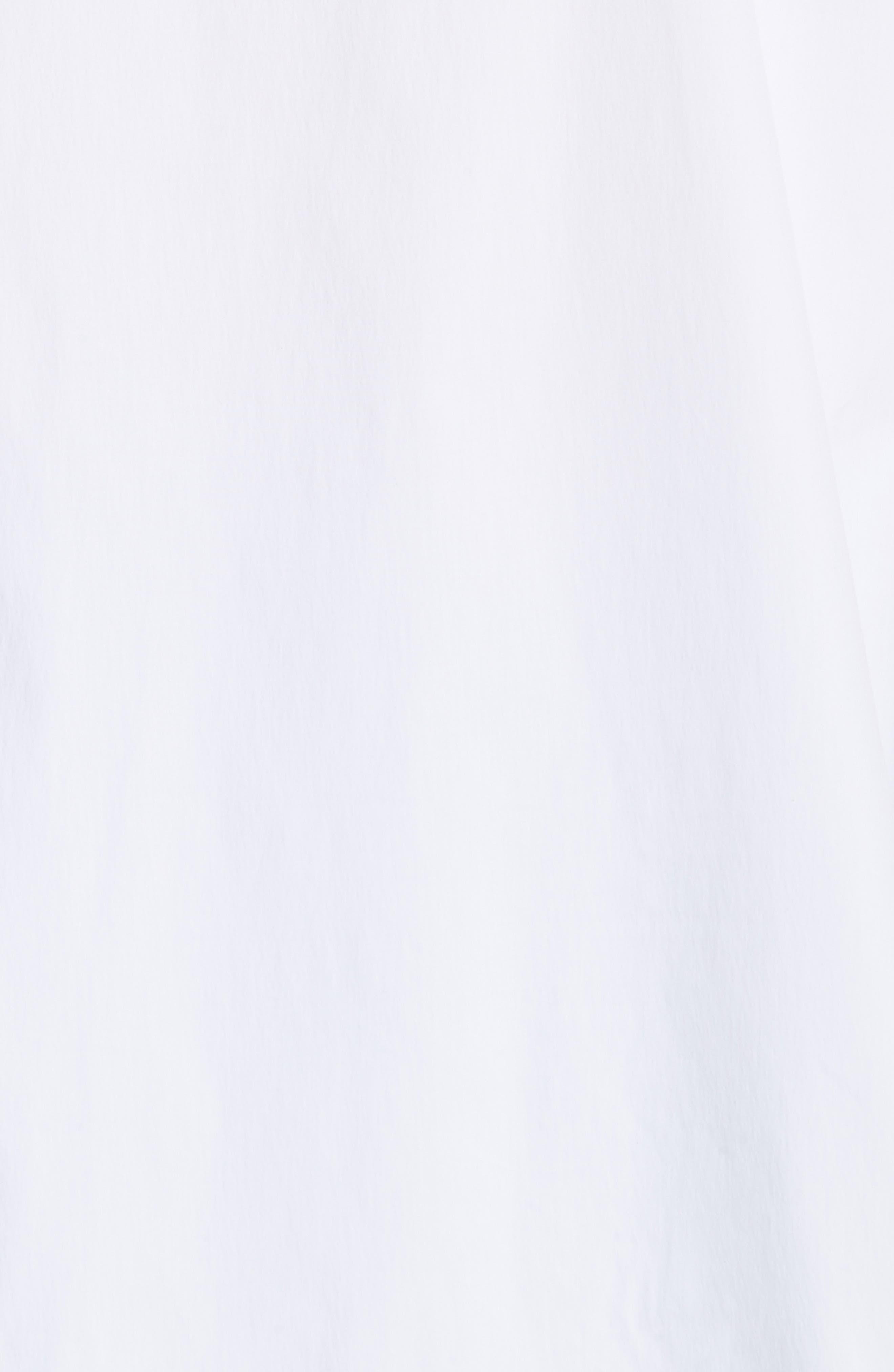 Beaded Stretch Poplin Tunic,                             Alternate thumbnail 6, color,                             Pure White