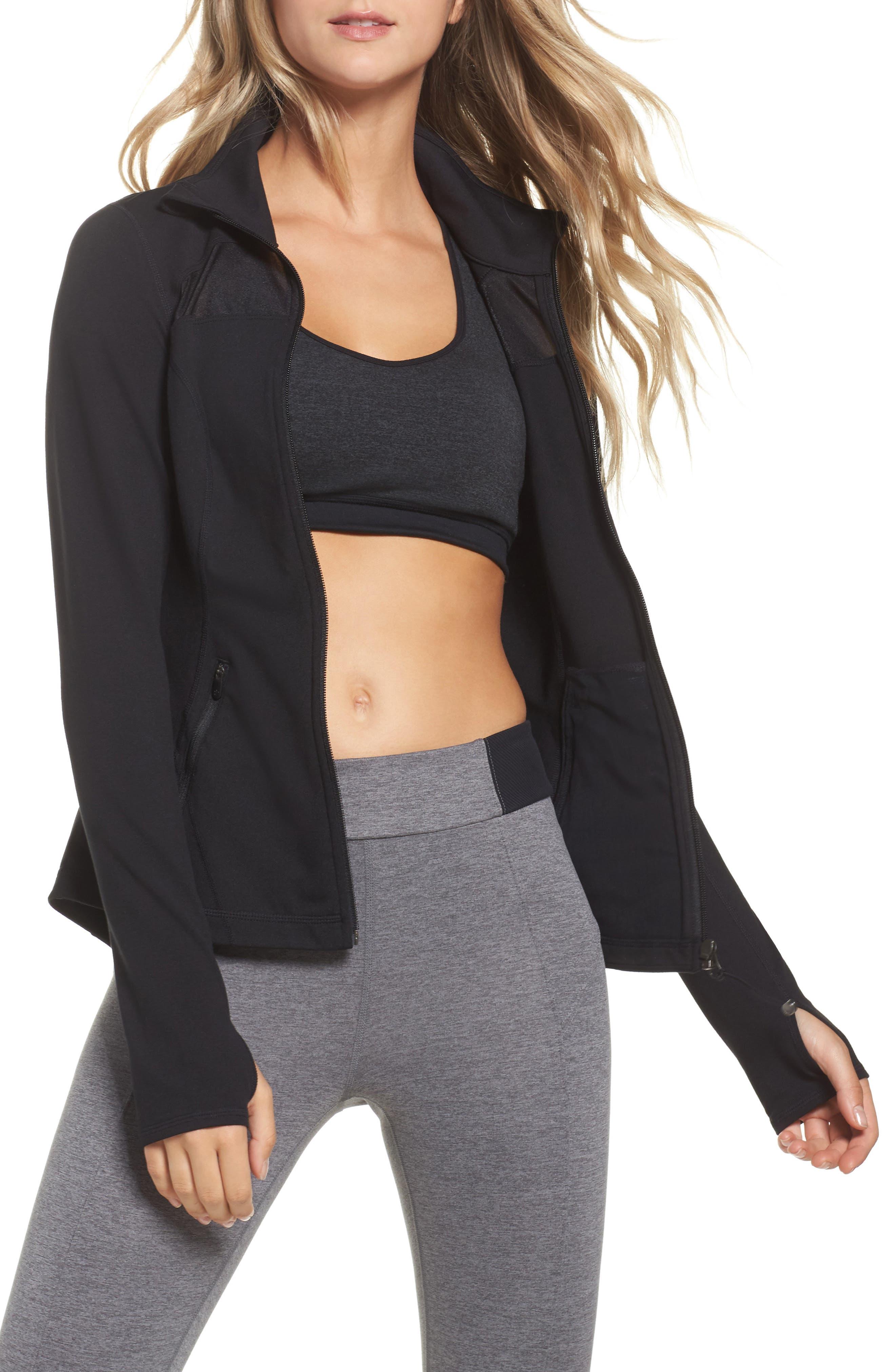 Defy Zip Jacket,                         Main,                         color, Black