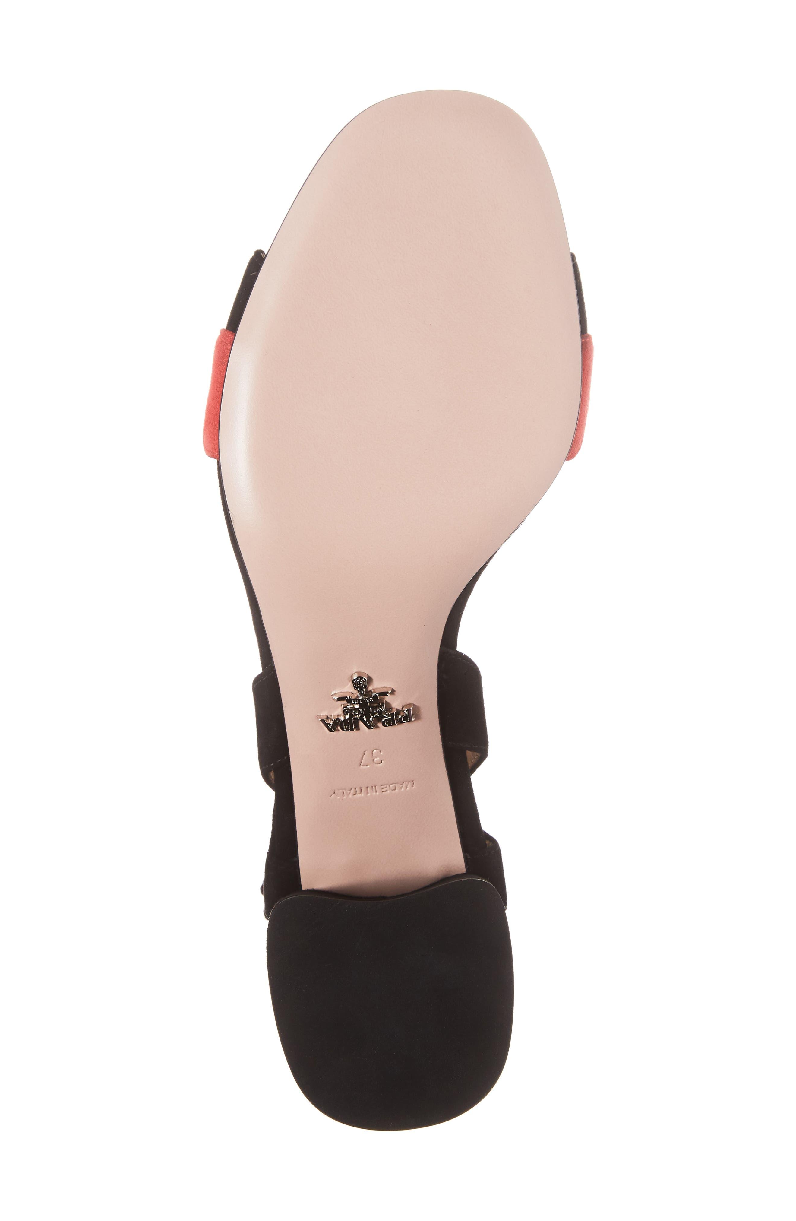 Alternate Image 6  - Prada Double Strap Wave Sandal (Women)