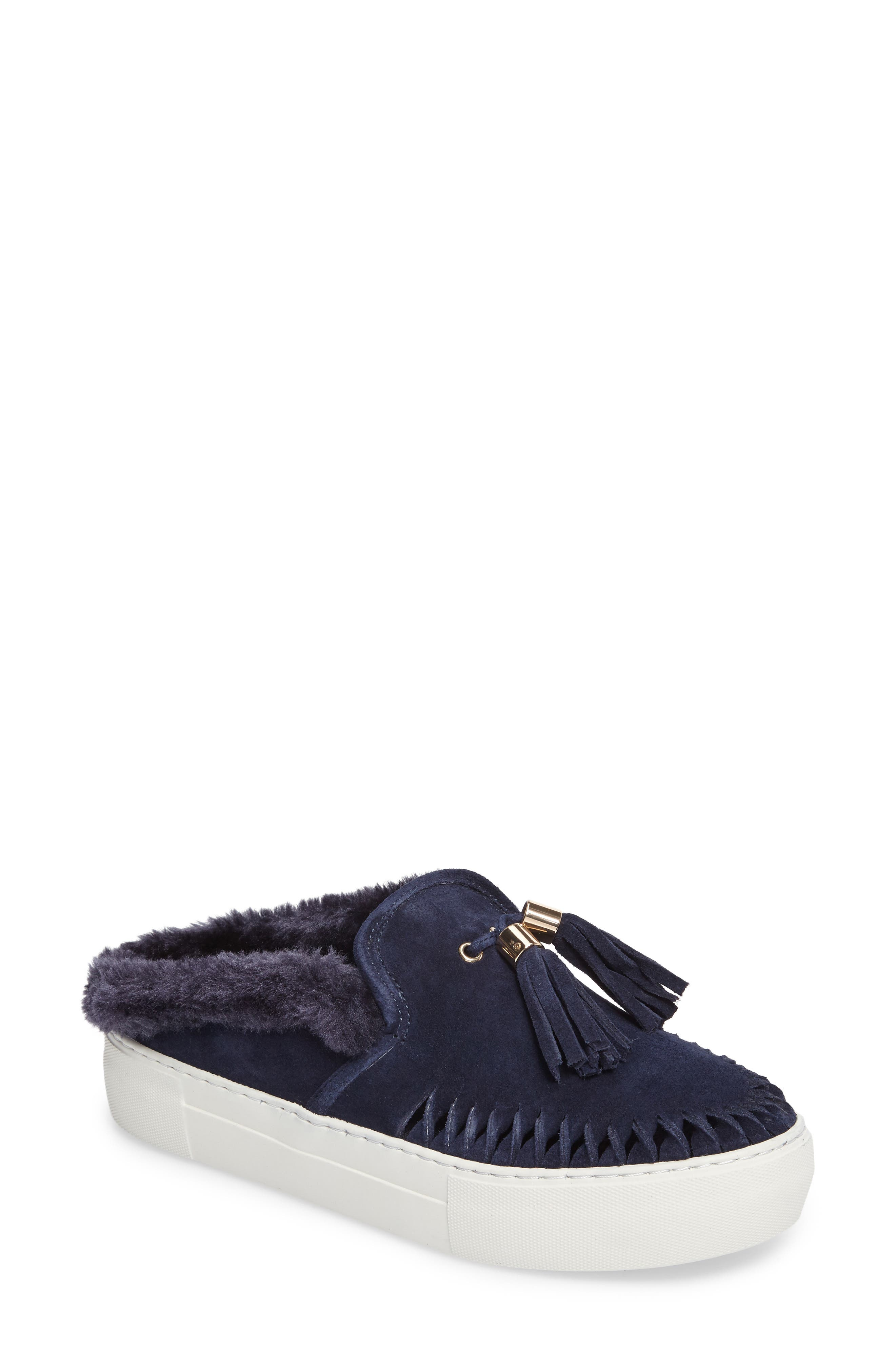 Azul Tassel Slip-On Sneaker,                         Main,                         color, Navy Suede