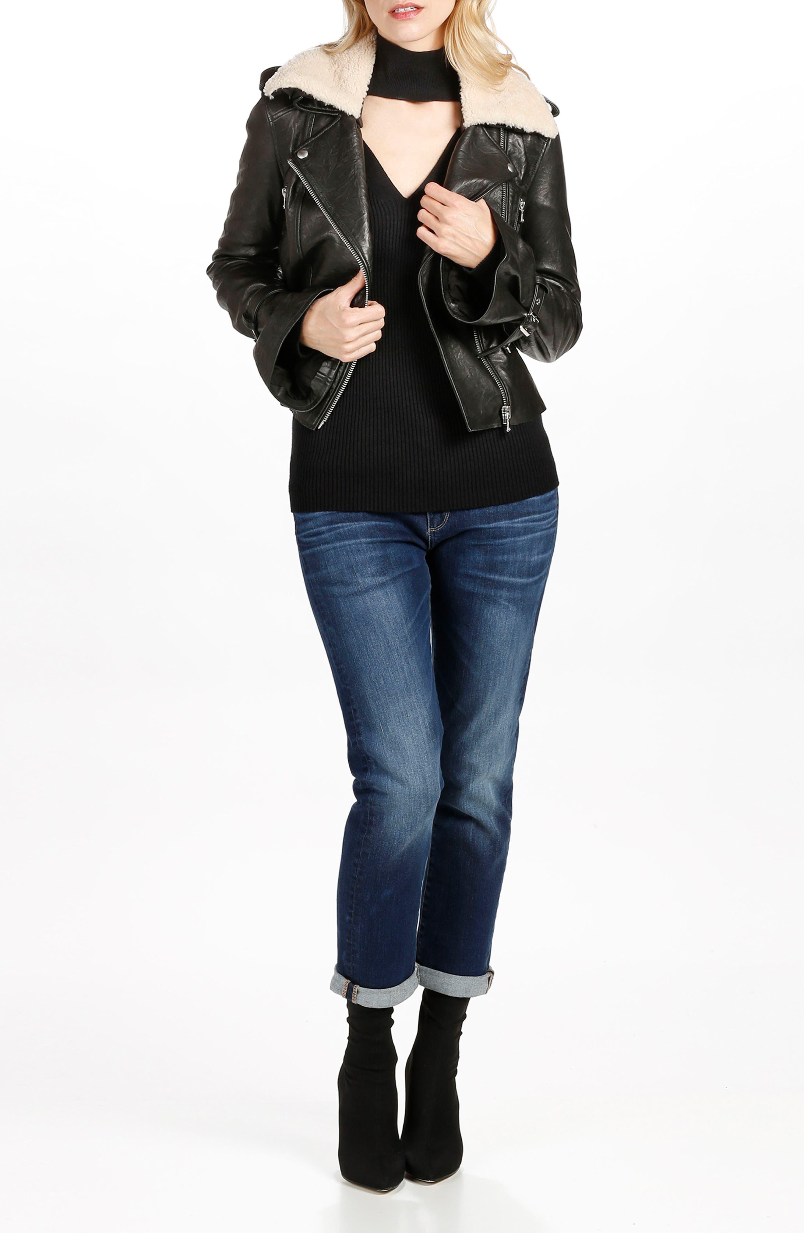 Alternate Image 2  - PAIGE Brigitte High Waist Crop Boyfriend Jeans