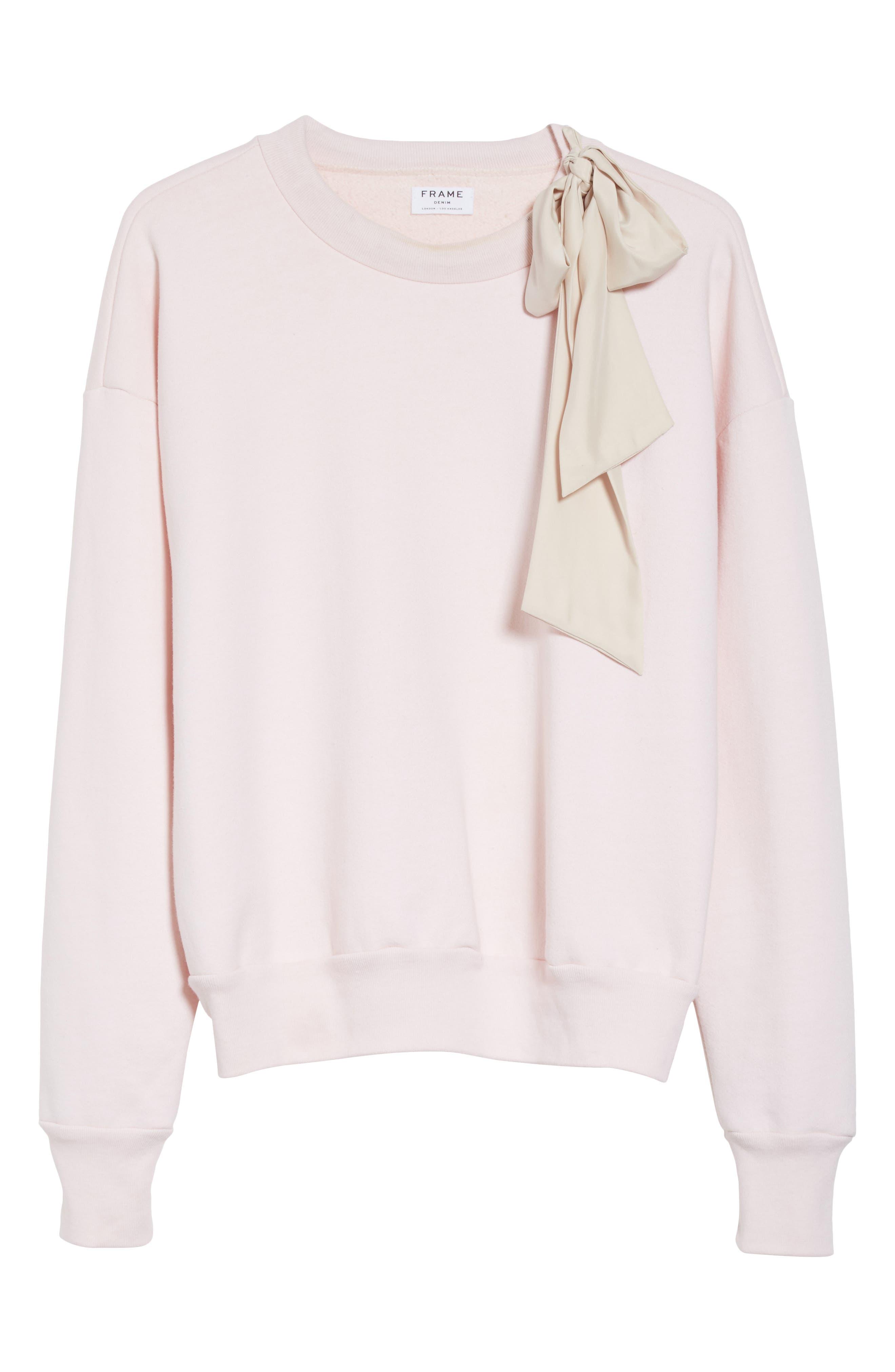 Bow Sweatshirt,                             Alternate thumbnail 7, color,                             Light Pink Exclusive