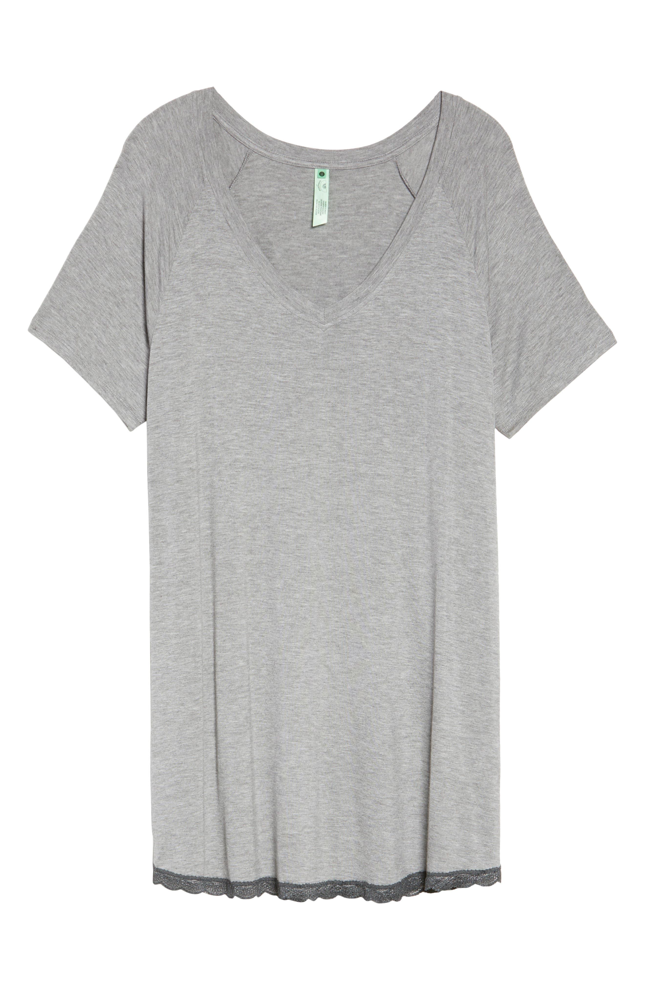 Alternate Image 4  - Honeydew Lace Trim Sleep Shirt (Plus Size) (2 for $60)