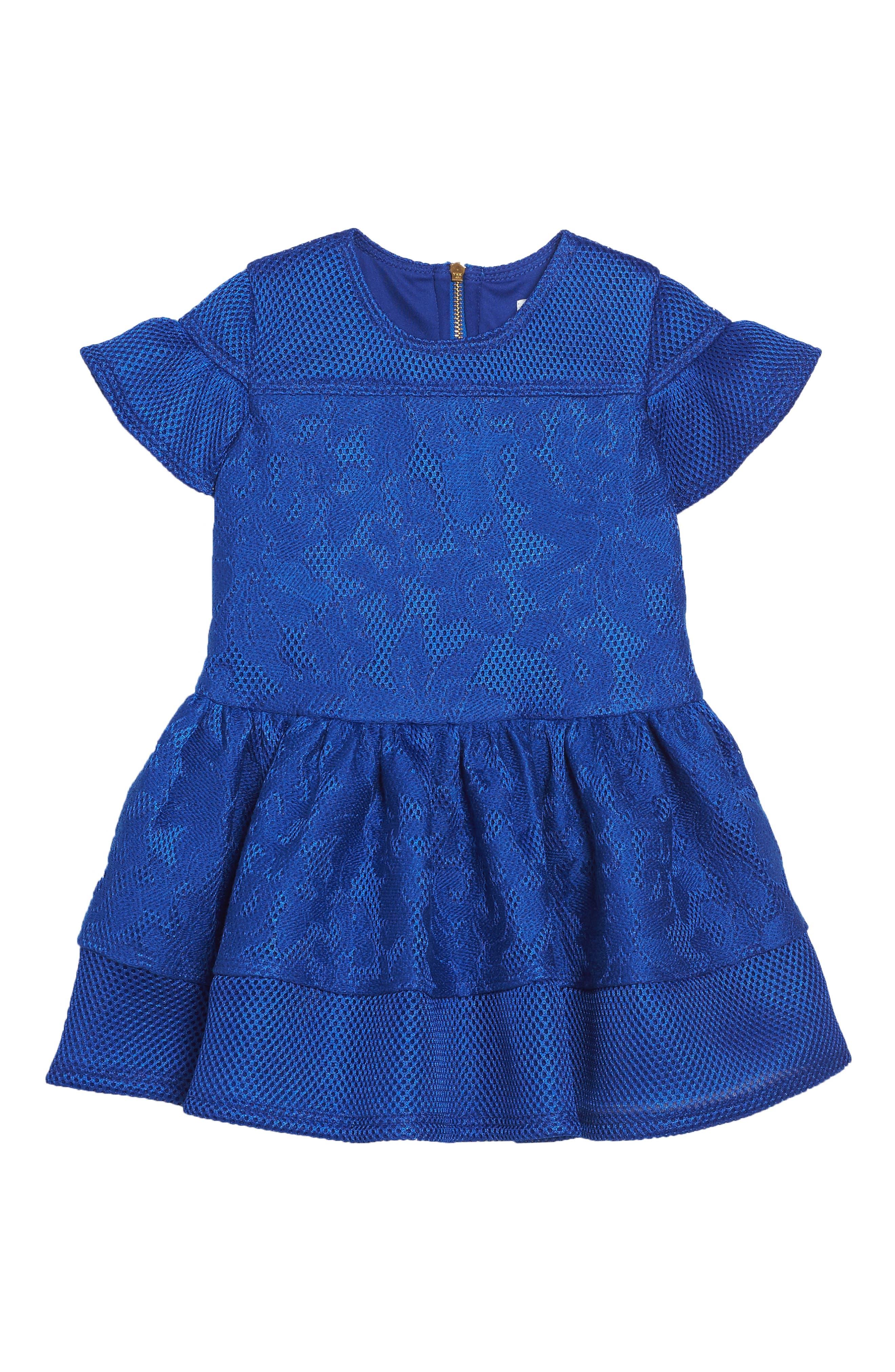 David Charles Techno Mesh Dress (Toddler Girls & Little Girls)