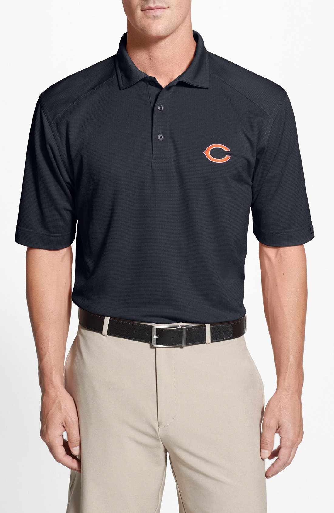 Chicago Bears - Genre DryTec Moisture Wicking Polo,                             Main thumbnail 1, color,                             Navy Blue