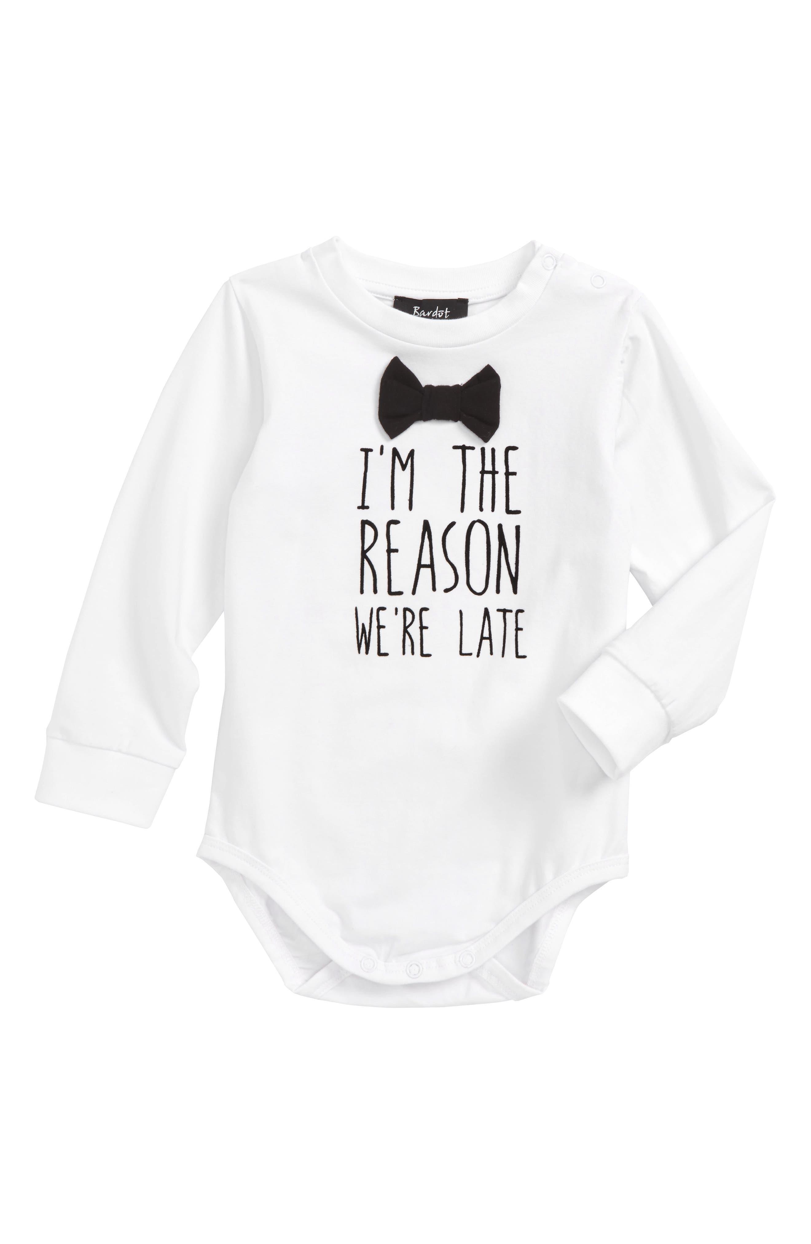 Bardot Junior Fashionably Late Bodysuit (Baby Boys)