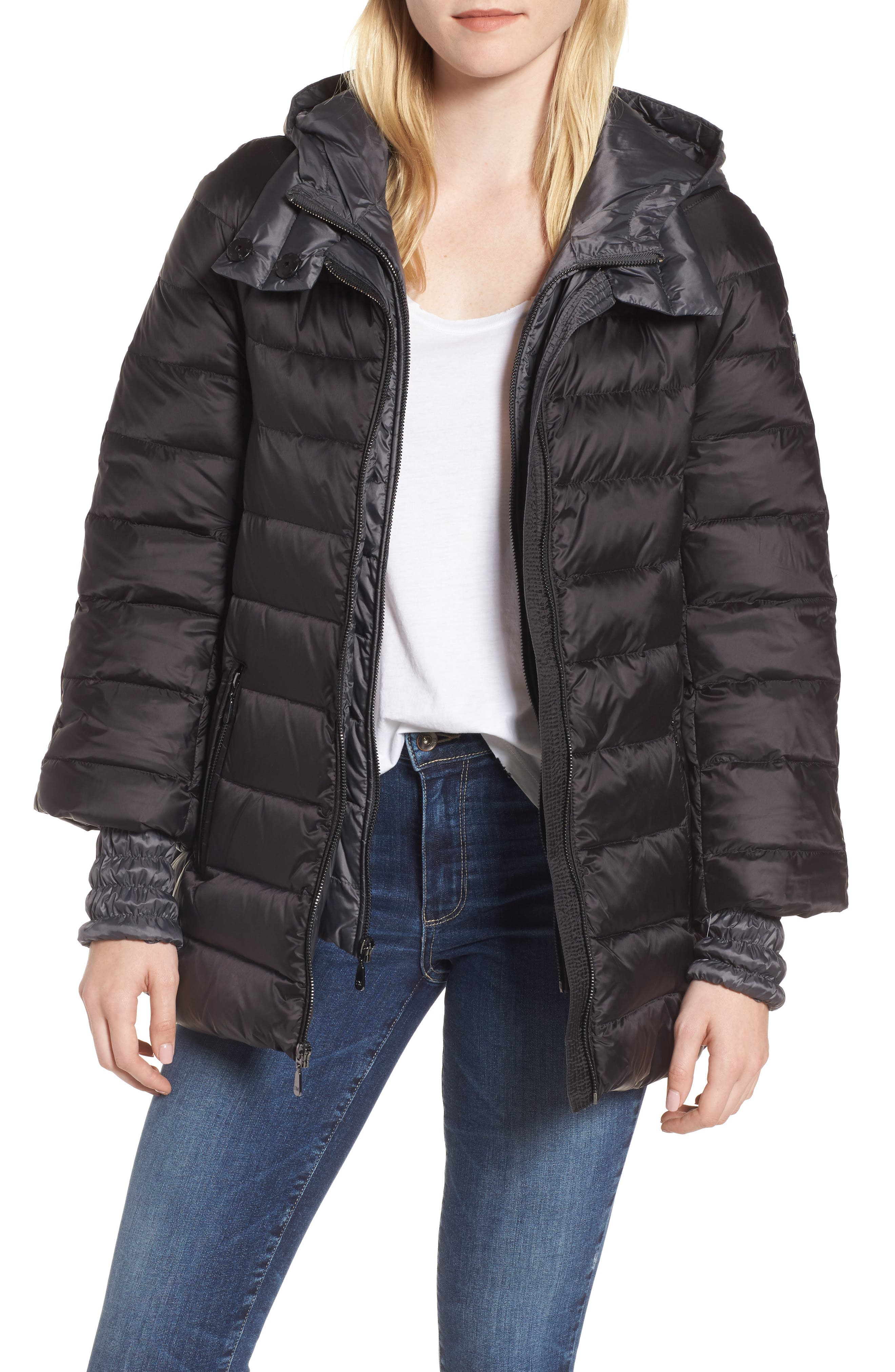 Main Image - 1 Madison 3-in-1 Layered Packable Quilted Down Coat