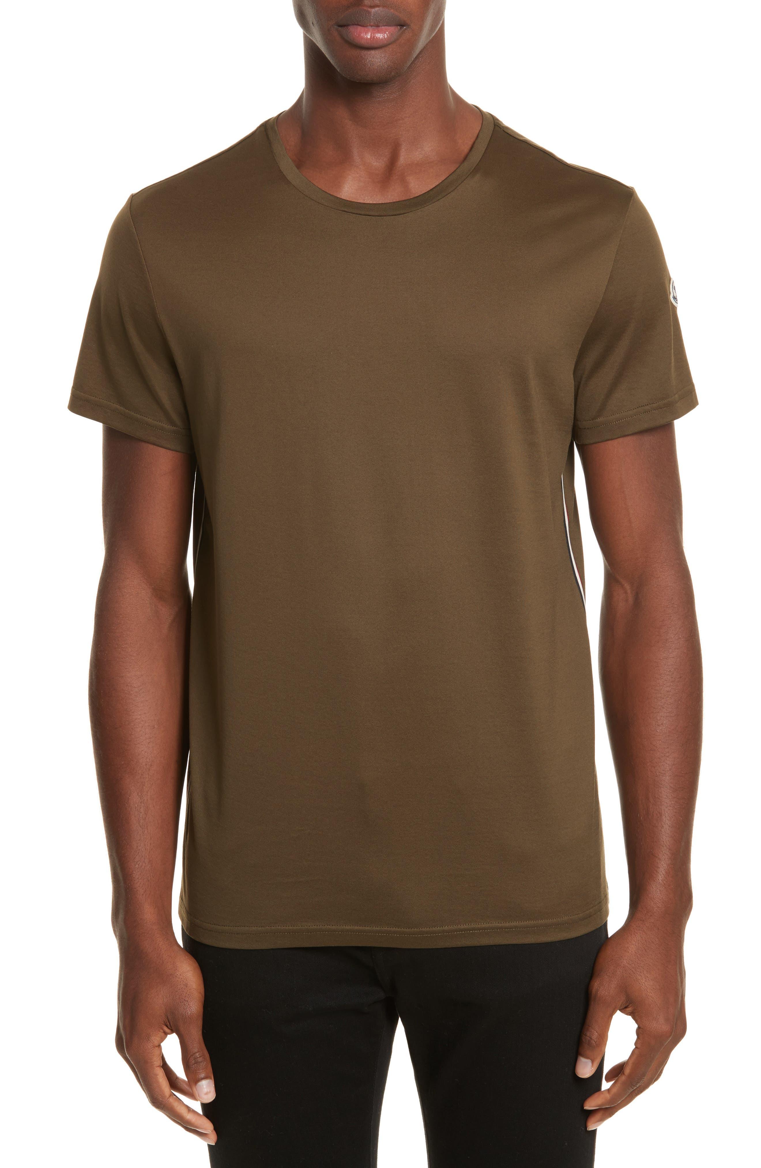 Flag Trim T-Shirt,                         Main,                         color, Olive