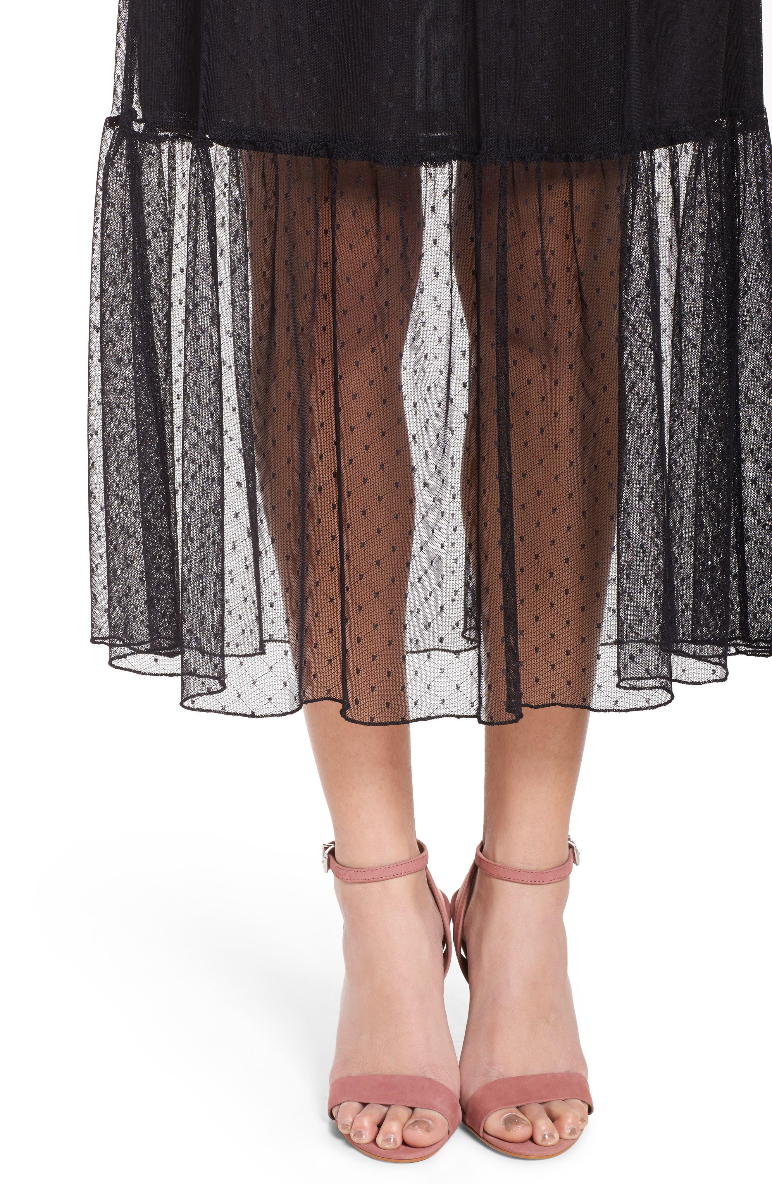 Alternate Image 4  - NSR Lace Midi Dress