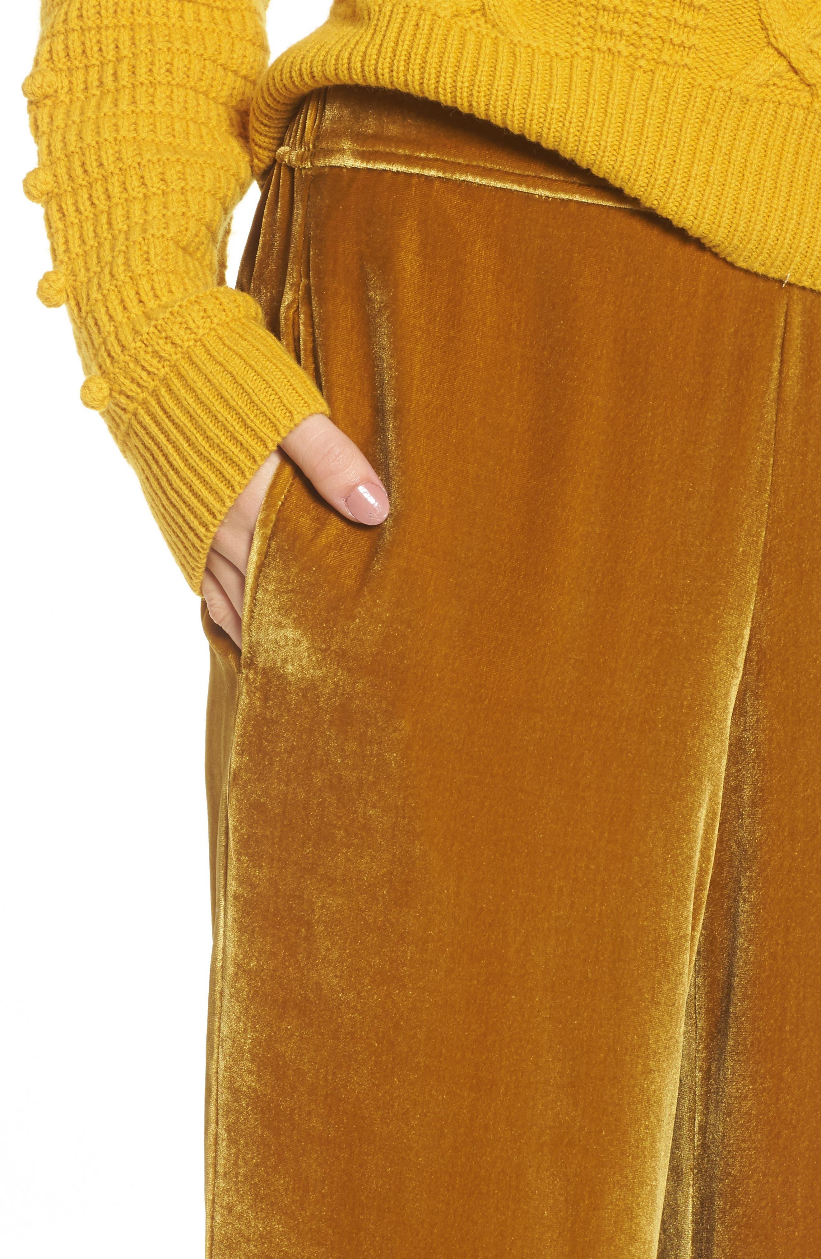 Alternate Image 4  - Madewell Velvet Pants