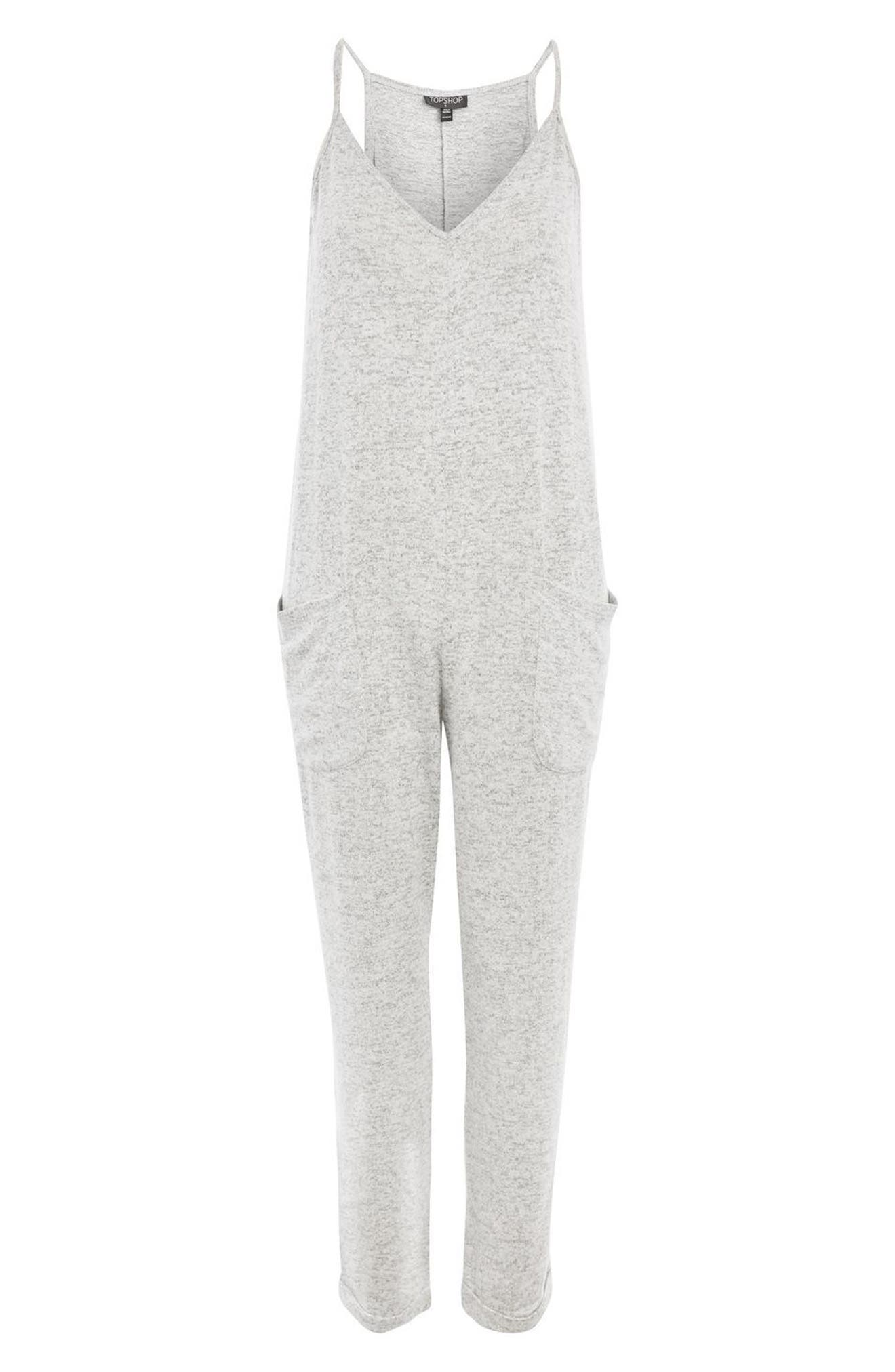 Supersoft Lounge Jumpsuit,                             Alternate thumbnail 3, color,                             Grey Marl