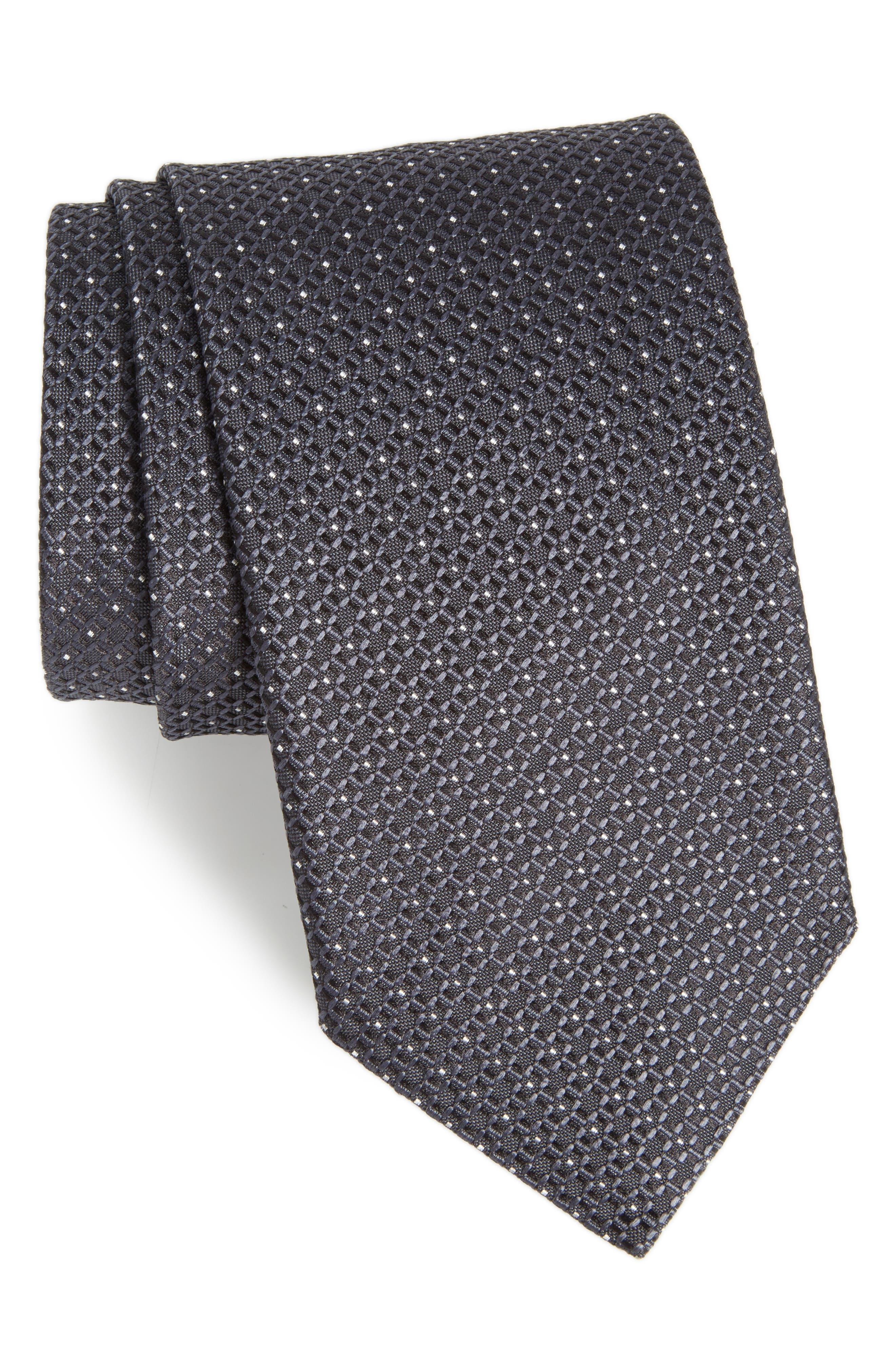 Main Image - Canali Geometric Silk Tie (X-Long)