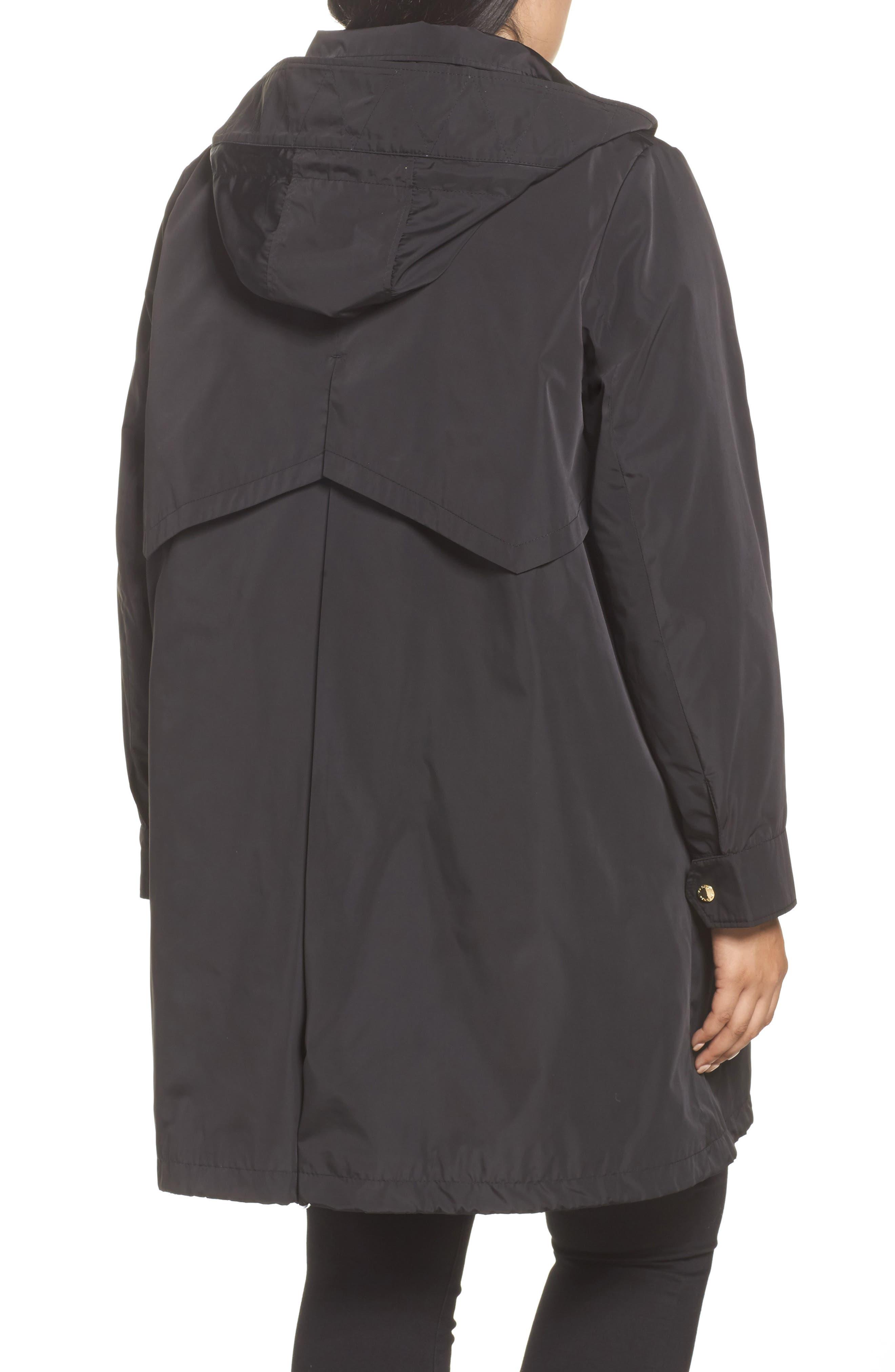 Alternate Image 2  - Via Spiga Hooded Packable Utility Coat (Plus Size)