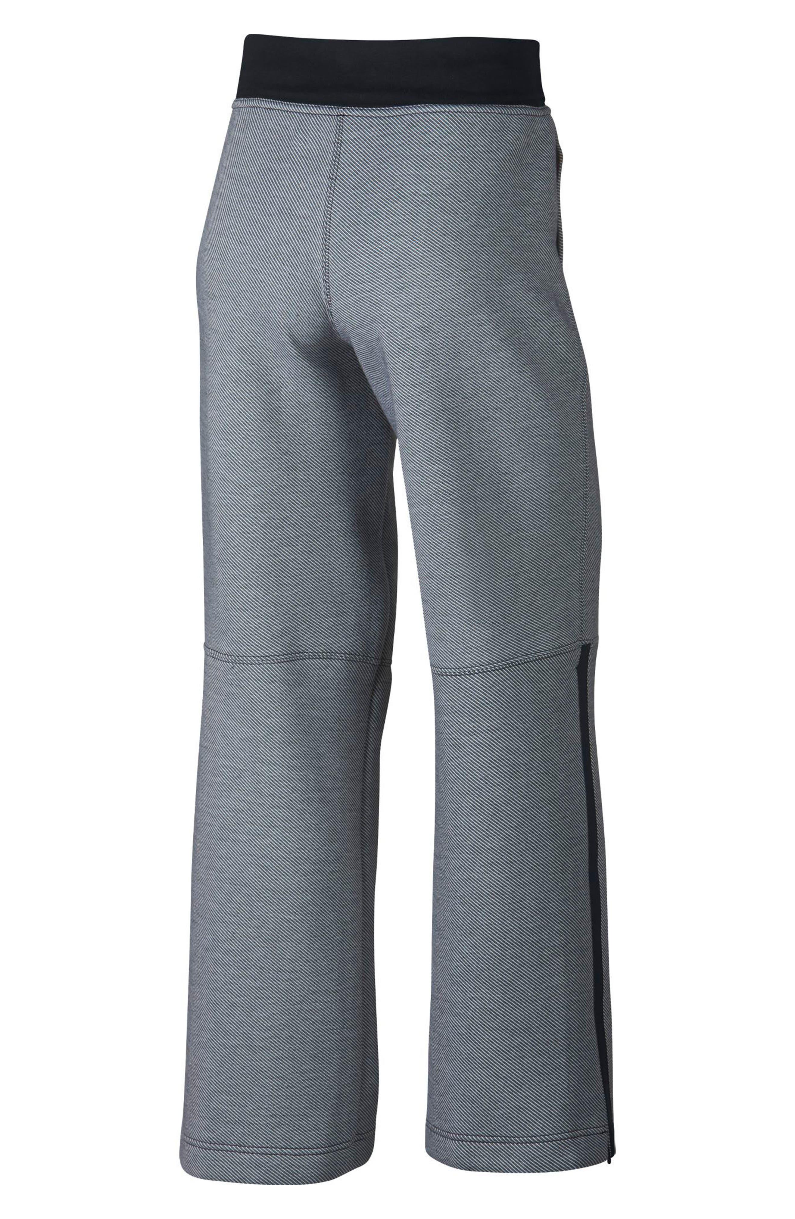 Drawstring Technical Pants,                             Alternate thumbnail 9, color,                             Black/ Black