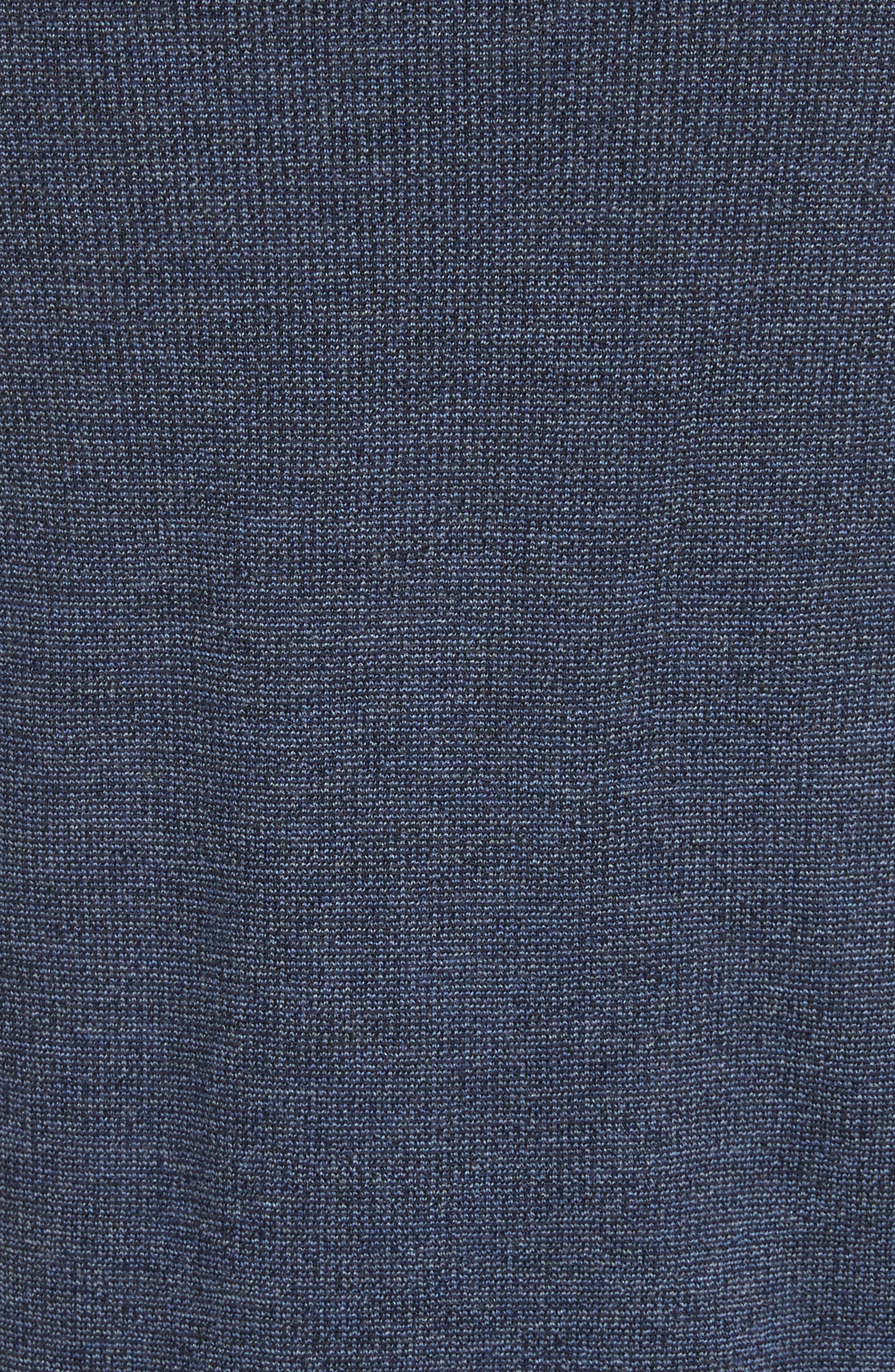 Alternate Image 5  - Canali Quarter Zip Wool Sweater