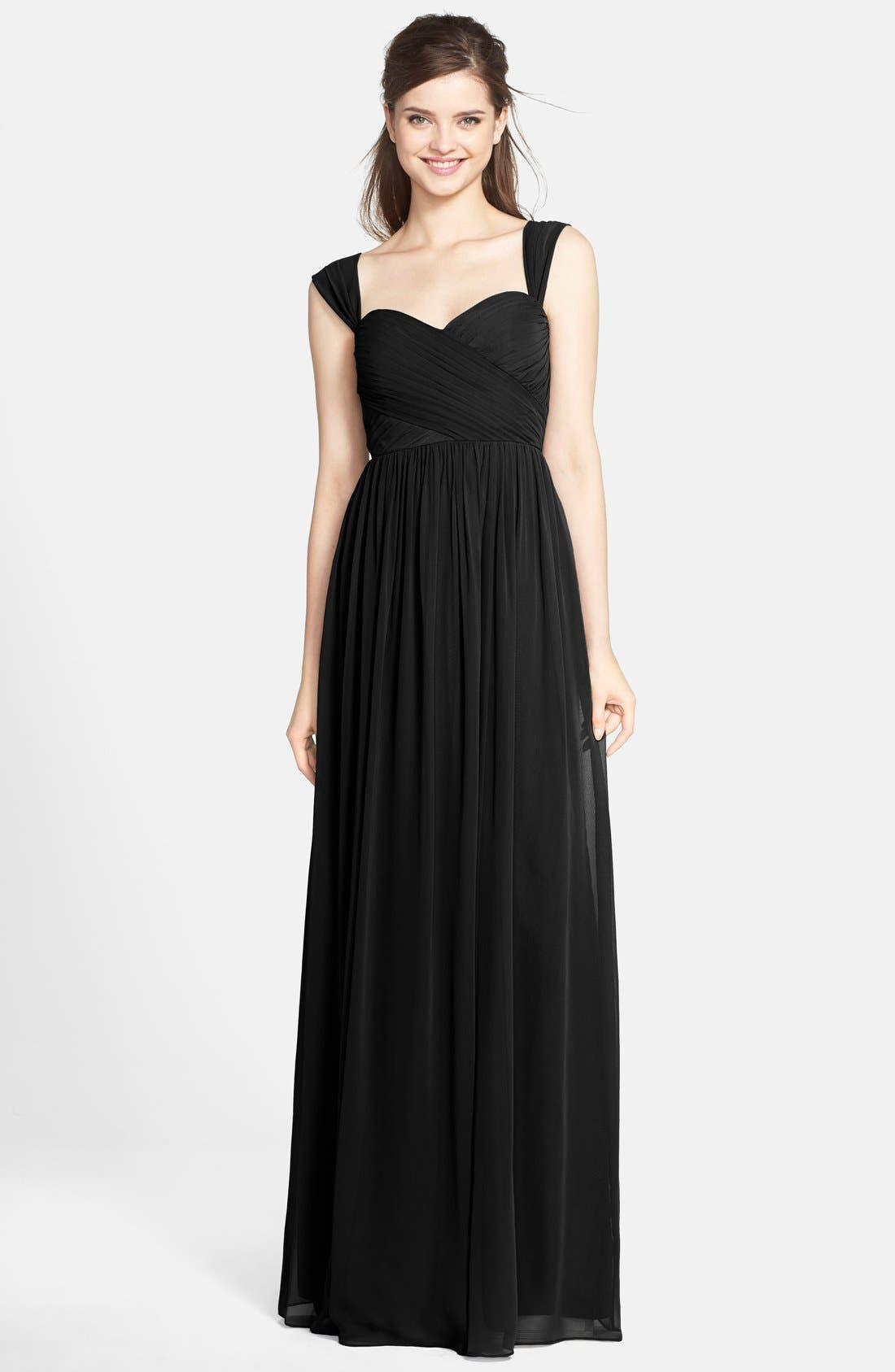 Alternate Image 1 Selected - Jenny Yoo 'Leah' Convertible Chiffon Gown