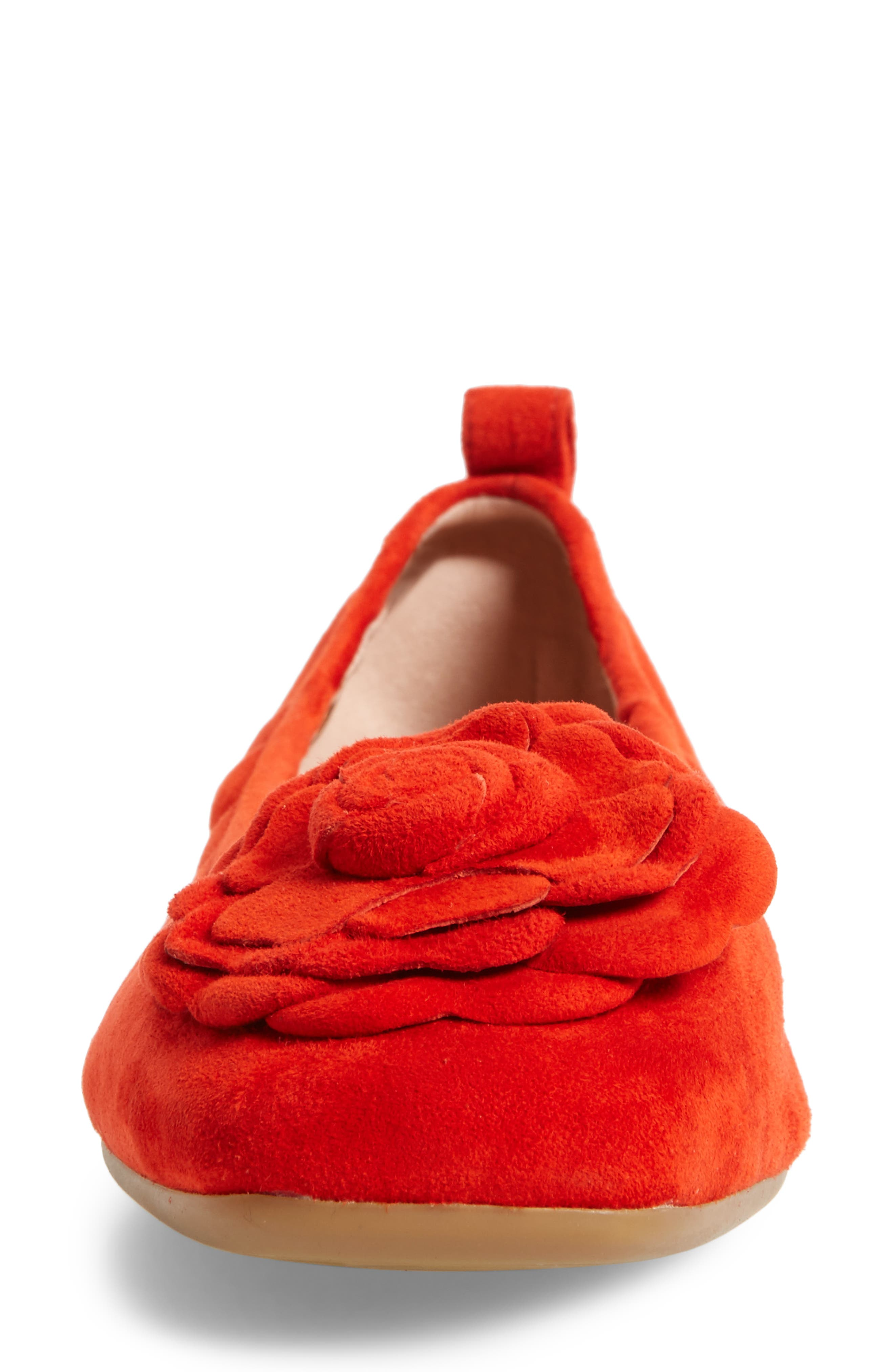 Rosalyn Ballet Flat,                             Alternate thumbnail 3, color,                             Spicy Suede