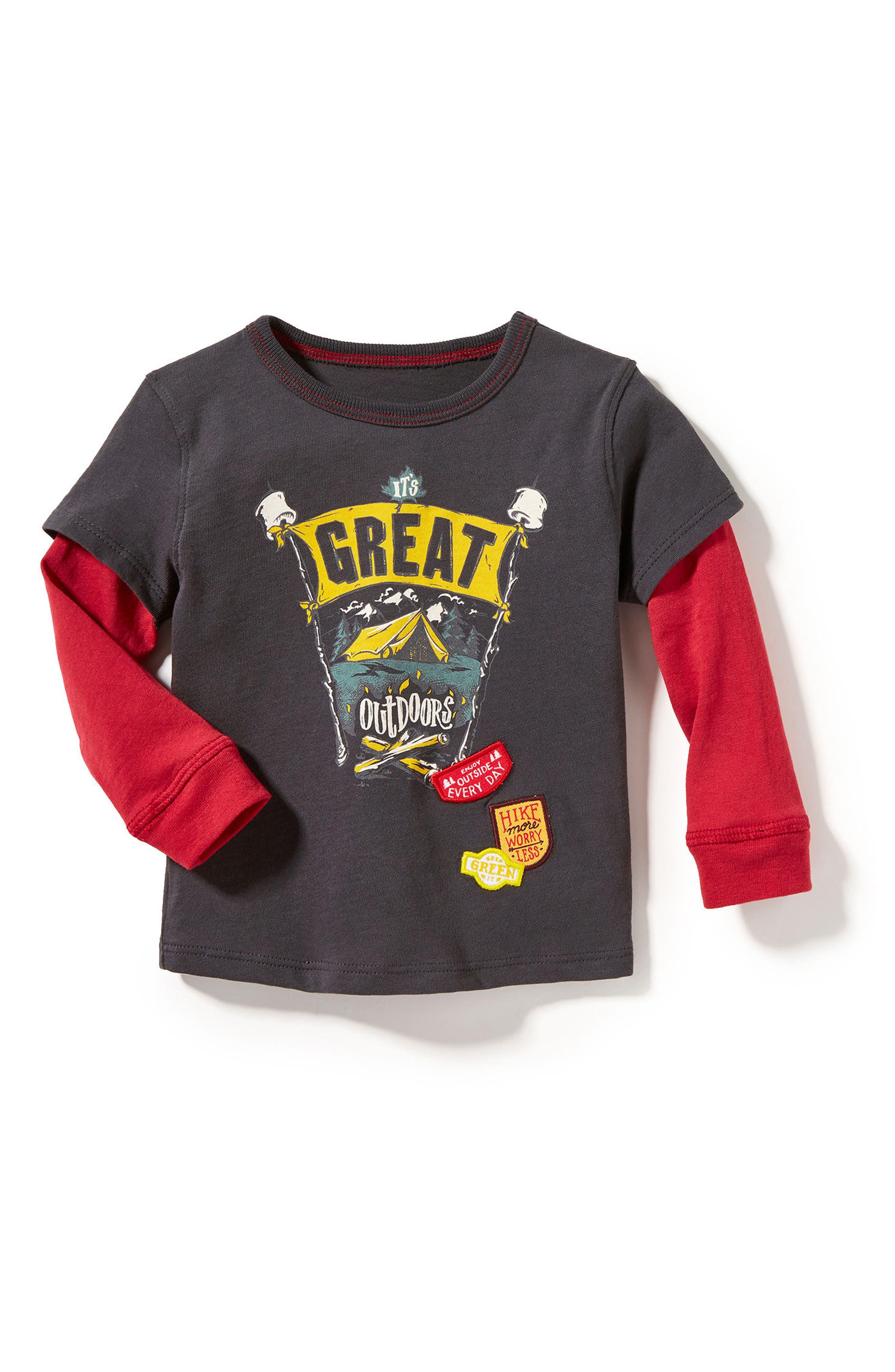Great Outdoors T-Shirt,                             Main thumbnail 1, color,                             Light Heather Grey