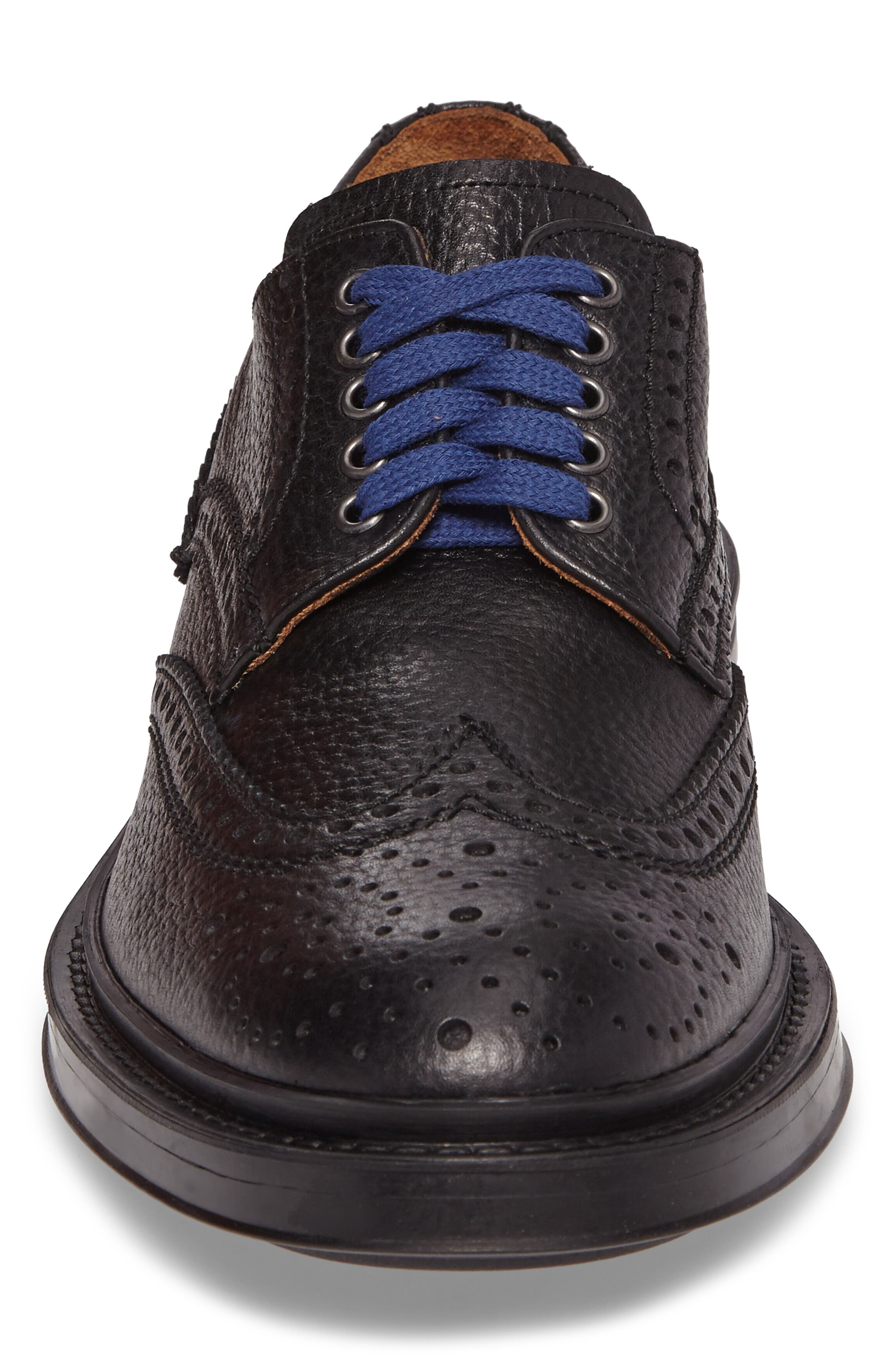 Landon Weatherproof Wingtip,                             Alternate thumbnail 4, color,                             Black