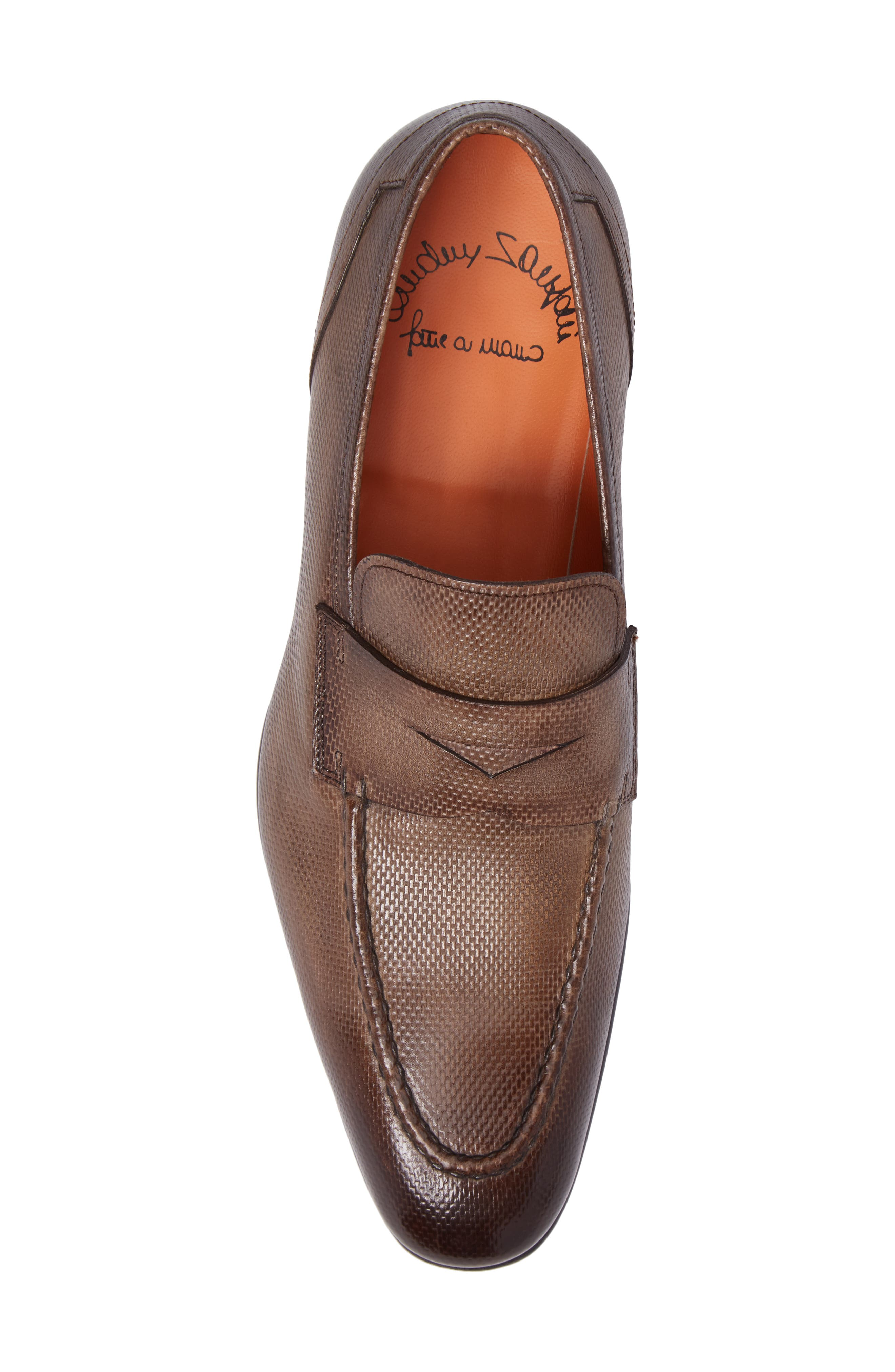 Felipe Penny Loafer,                             Alternate thumbnail 5, color,                             Brown