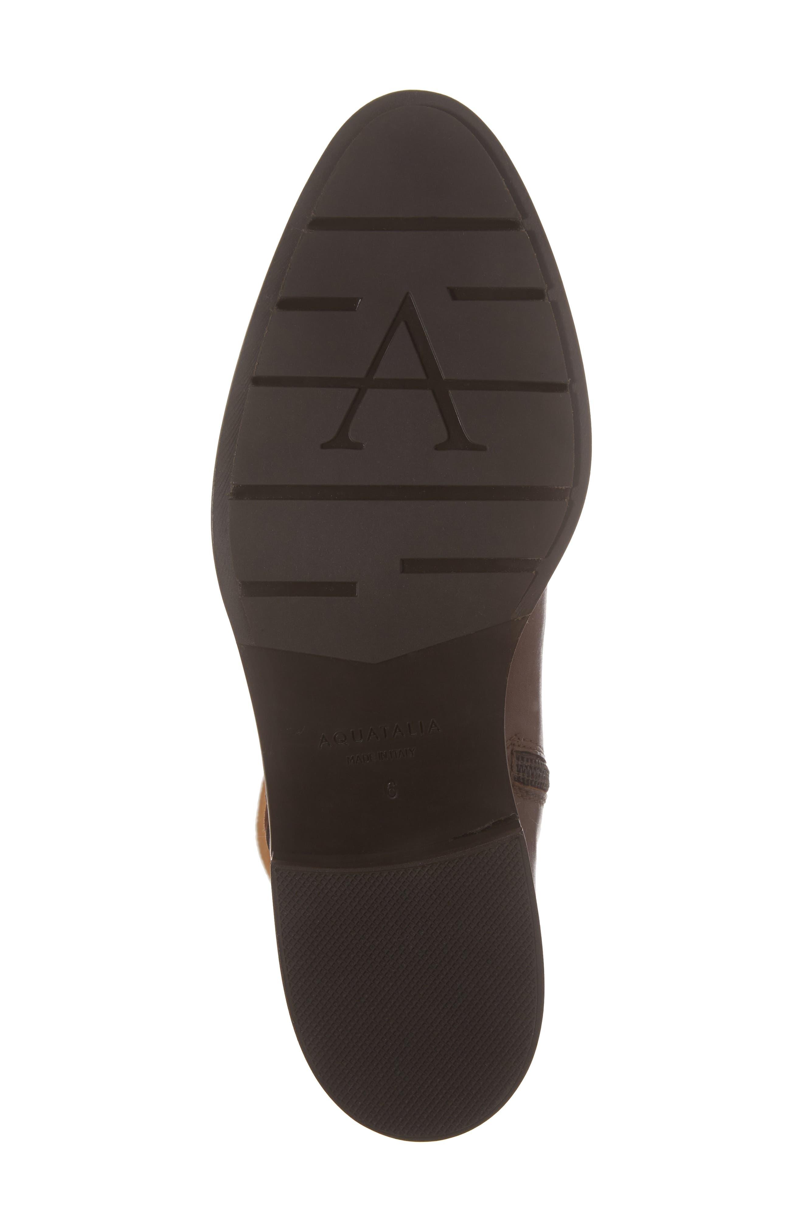 Nicolette Weatherproof Knee High Boot,                             Alternate thumbnail 6, color,                             Castagno Calf/ Elastic