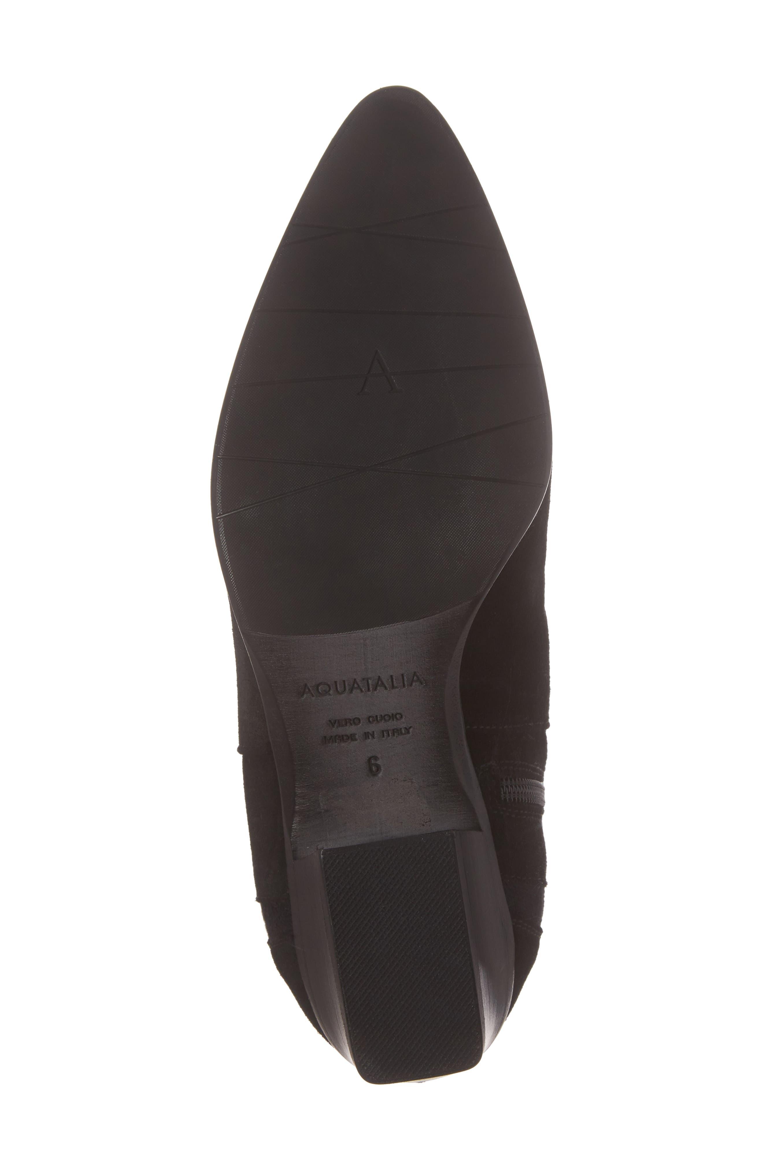 Federica Weatherproof Knee High Boot,                             Alternate thumbnail 6, color,                             Black Suede