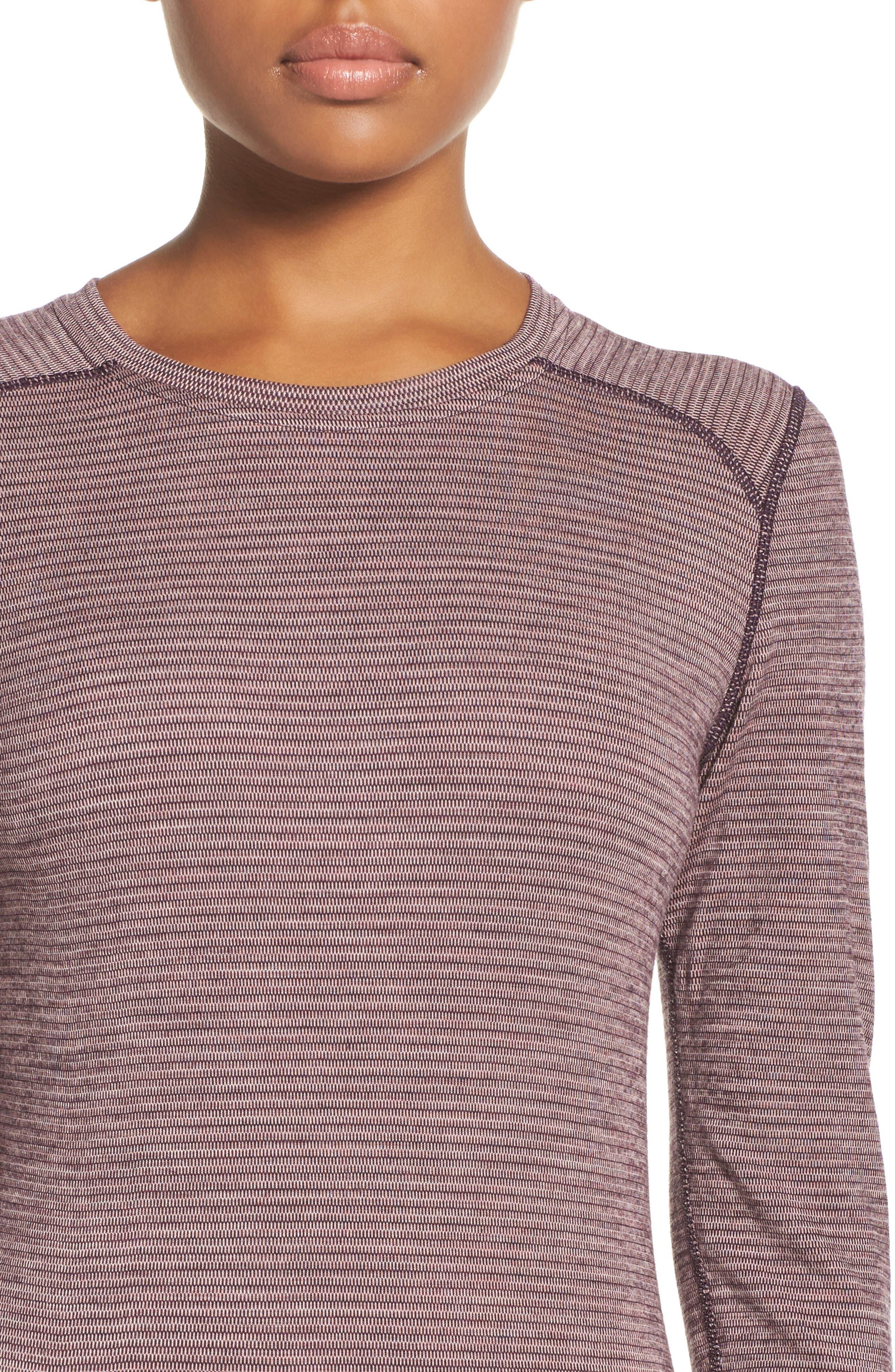 Merino Wool 250 Base Layer Top,                             Alternate thumbnail 4, color,                             Bordeaux