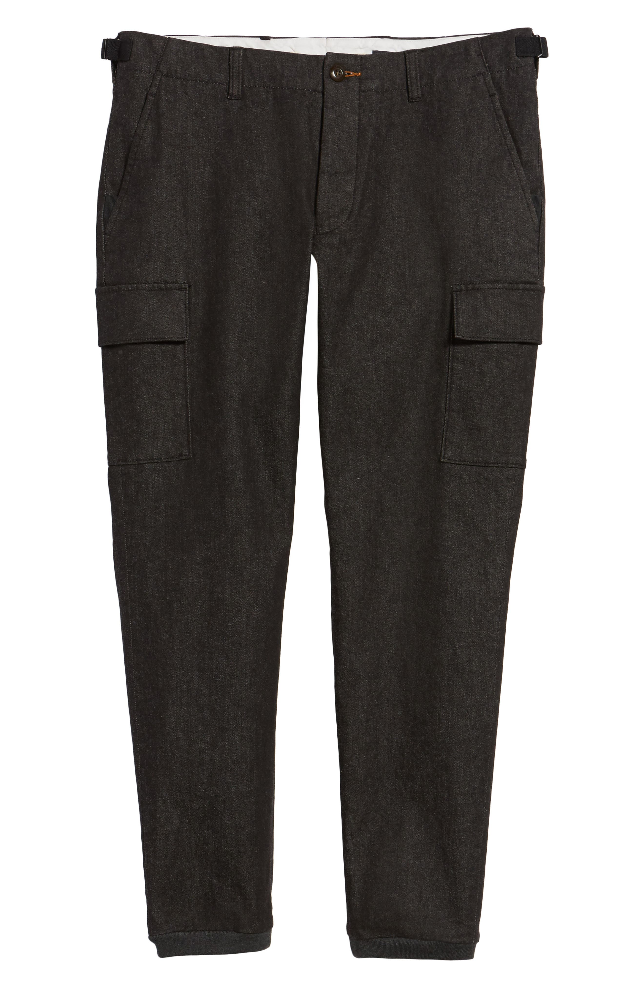 Brushed Stretch Twill Pants,                             Alternate thumbnail 6, color,                             Charcoal Mel