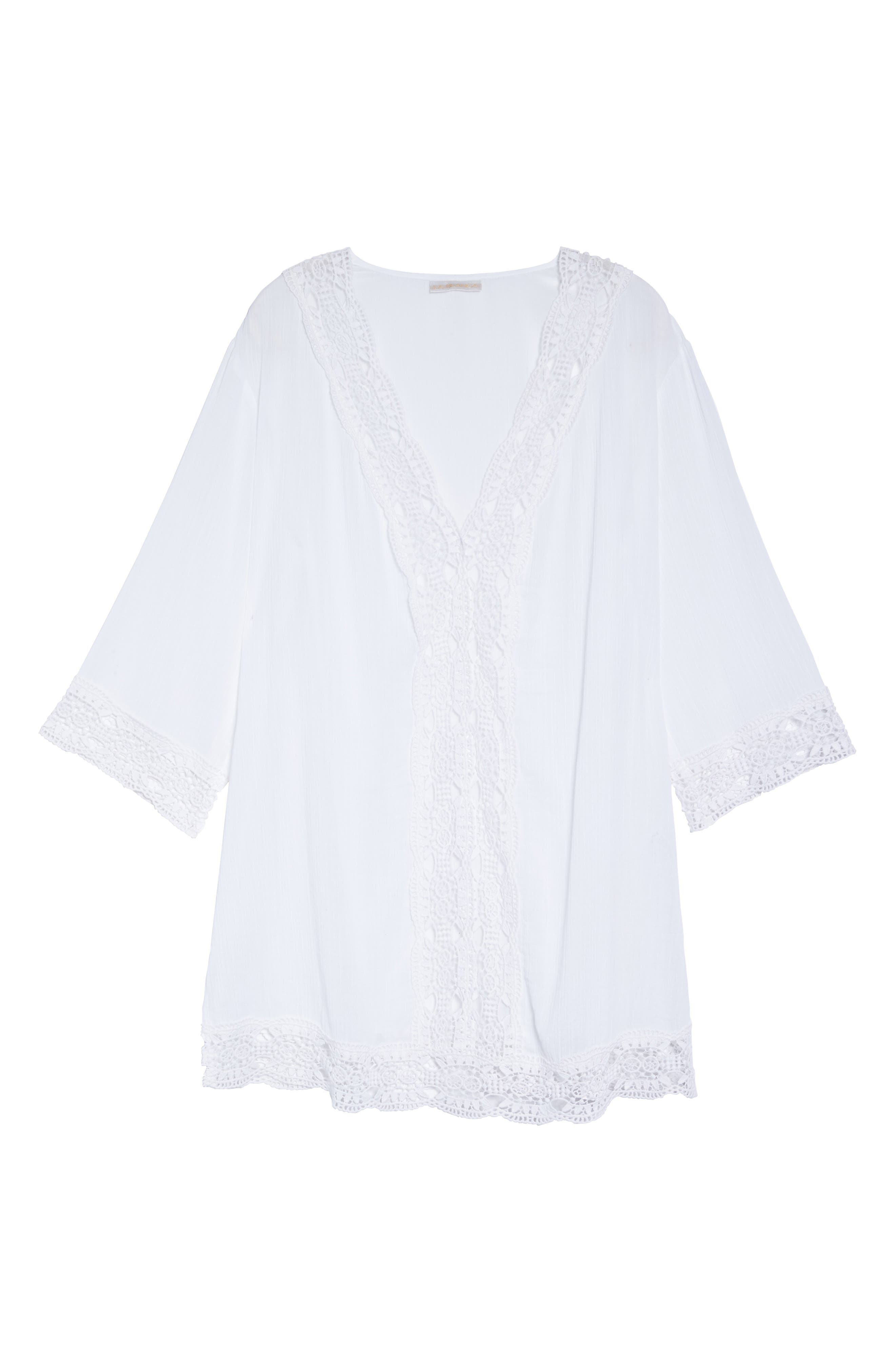 Island Fare Cover-Up Tunic,                             Alternate thumbnail 6, color,                             White