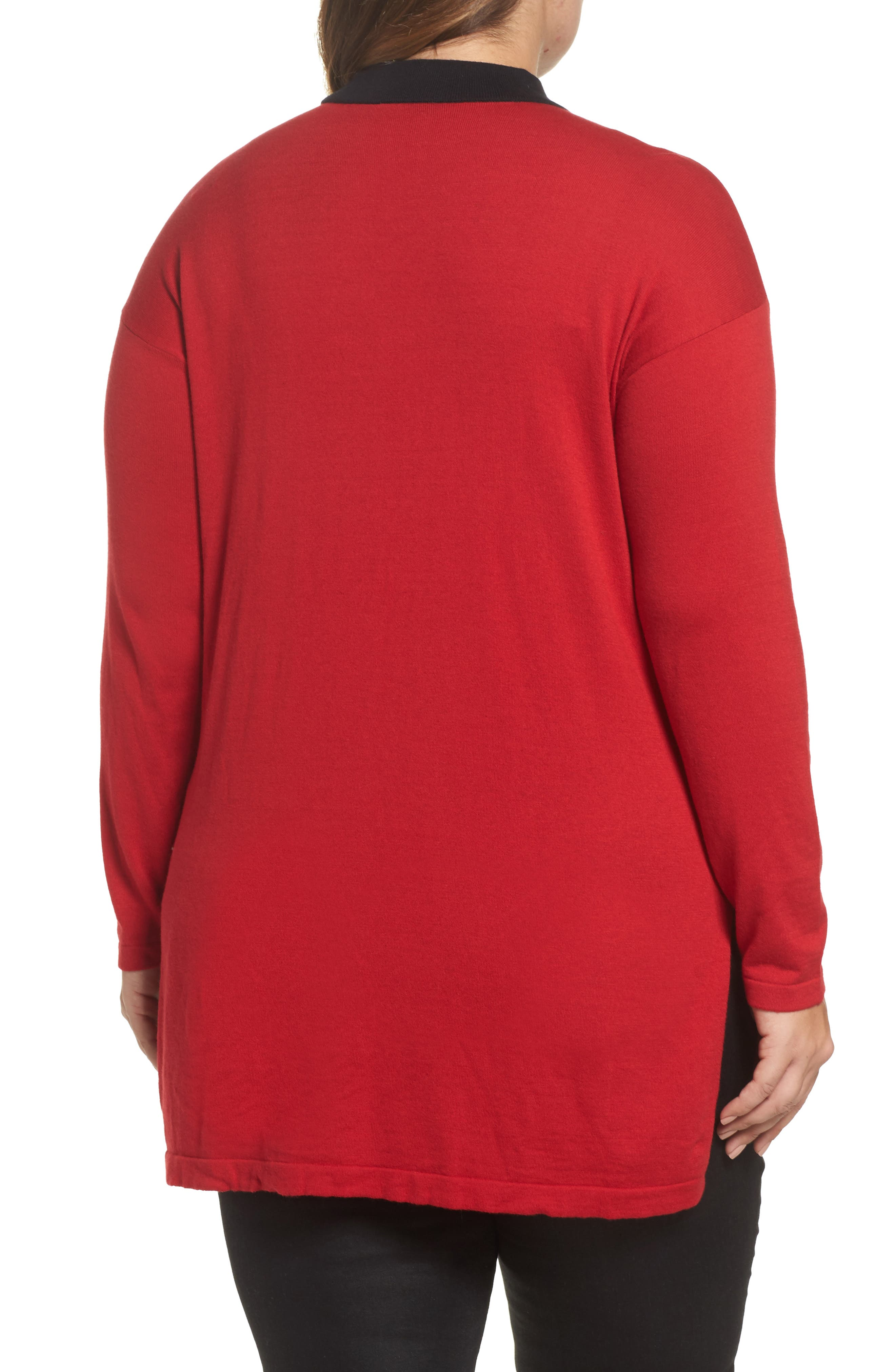 Alternate Image 2  - Vince Camuto Choker Neck Sweater (Plus Size)