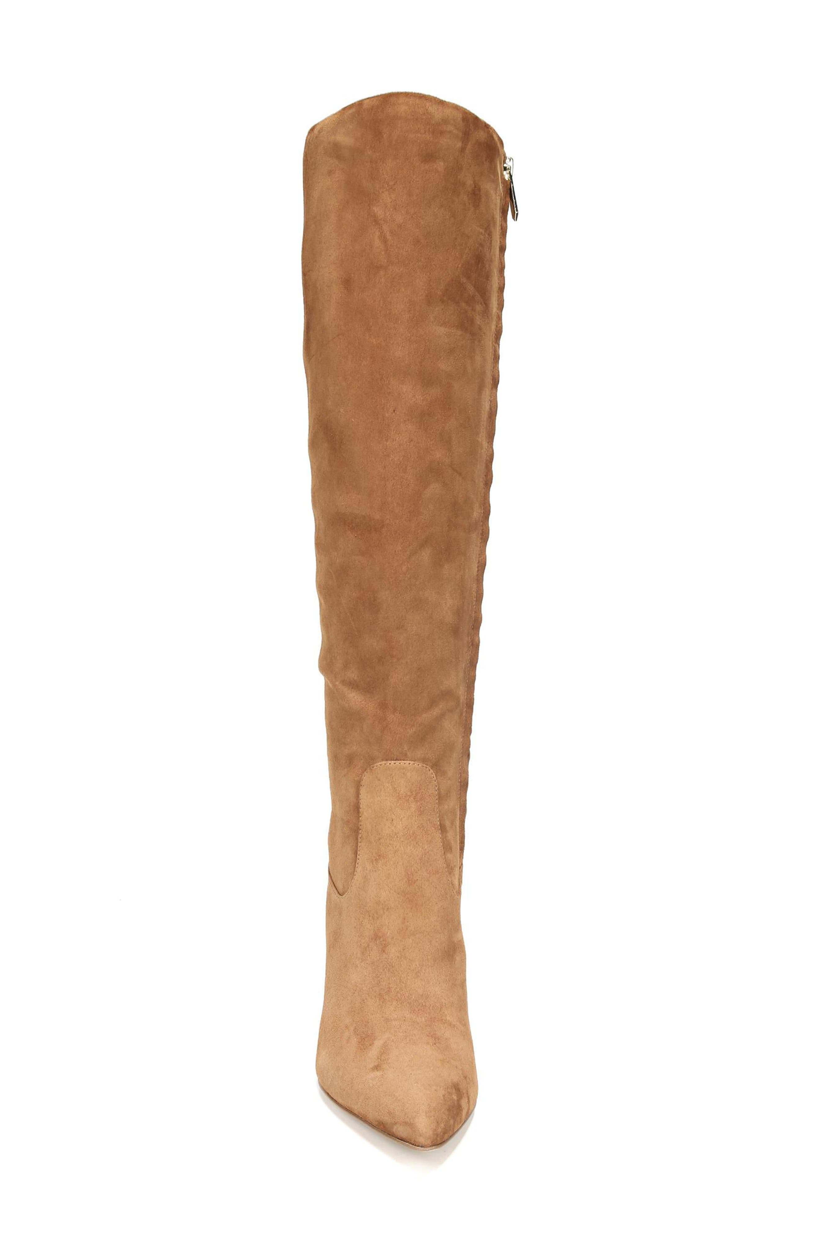 Olencia Knee High Boot,                             Alternate thumbnail 4, color,                             Luggage Suede