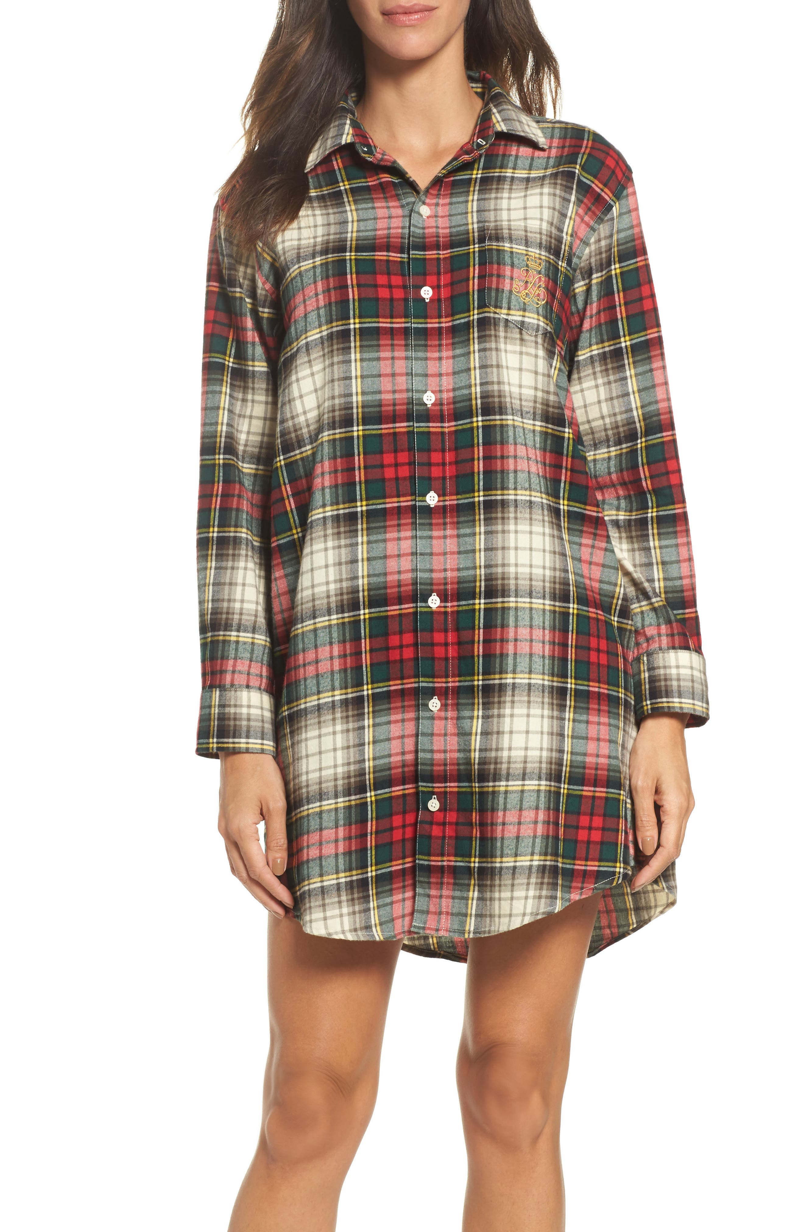 Lauren Ralph Lauren Flannel Sleep Shirt