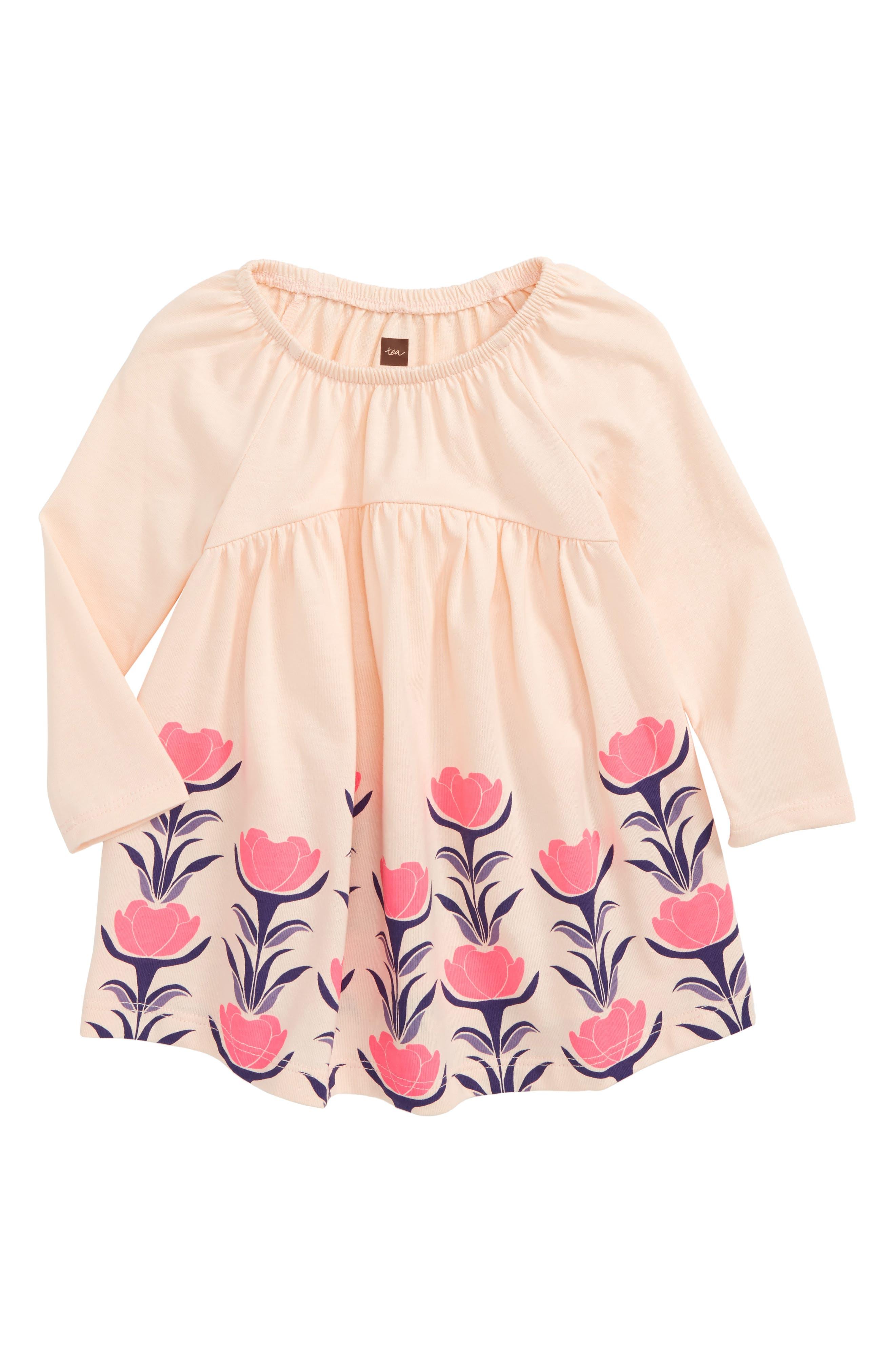 Malin Dress,                         Main,                         color, Soft Peach