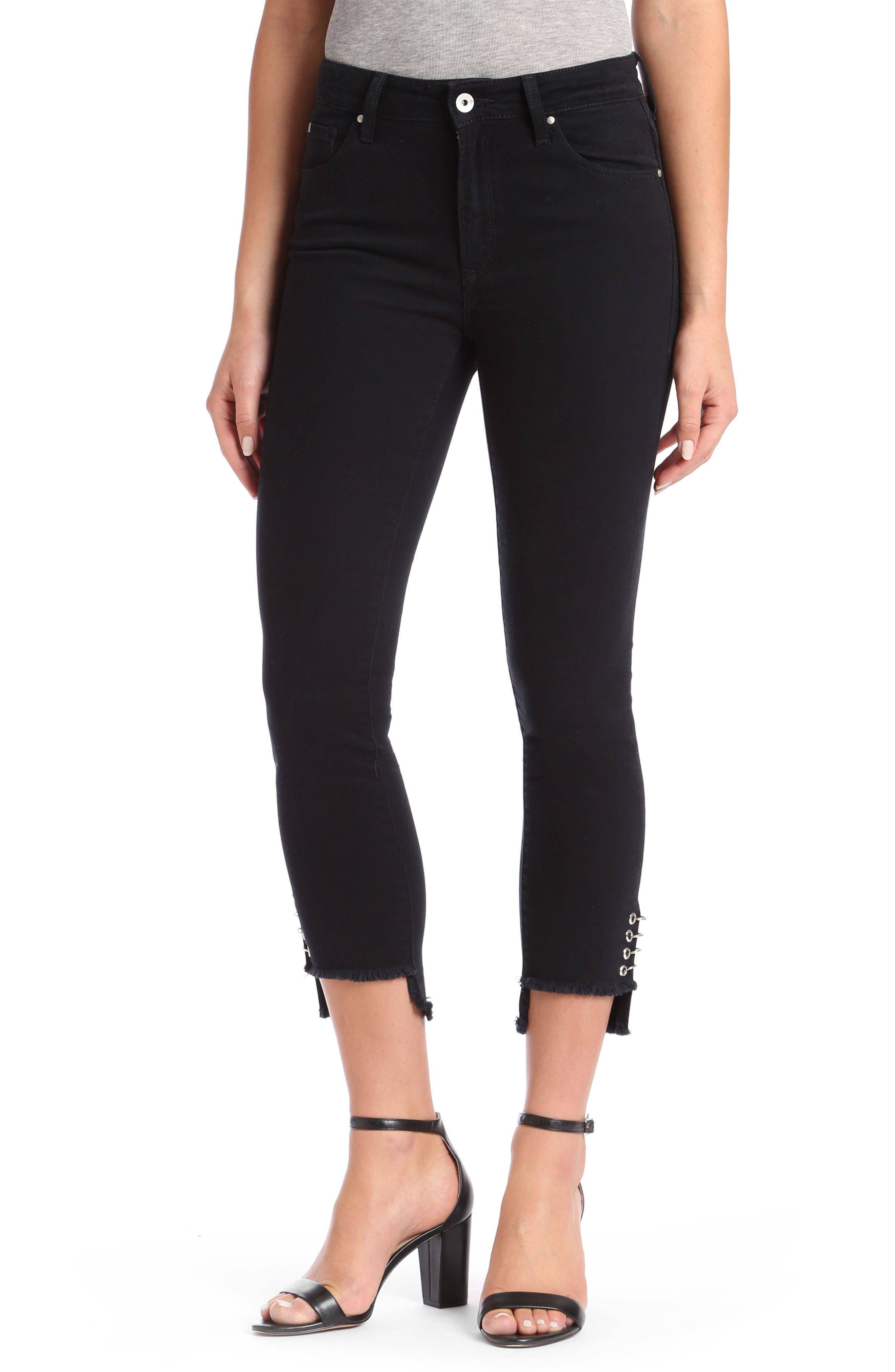 Mavi Tess Super Skinny Black Jeans,                         Main,                         color, Black Piercing Gold