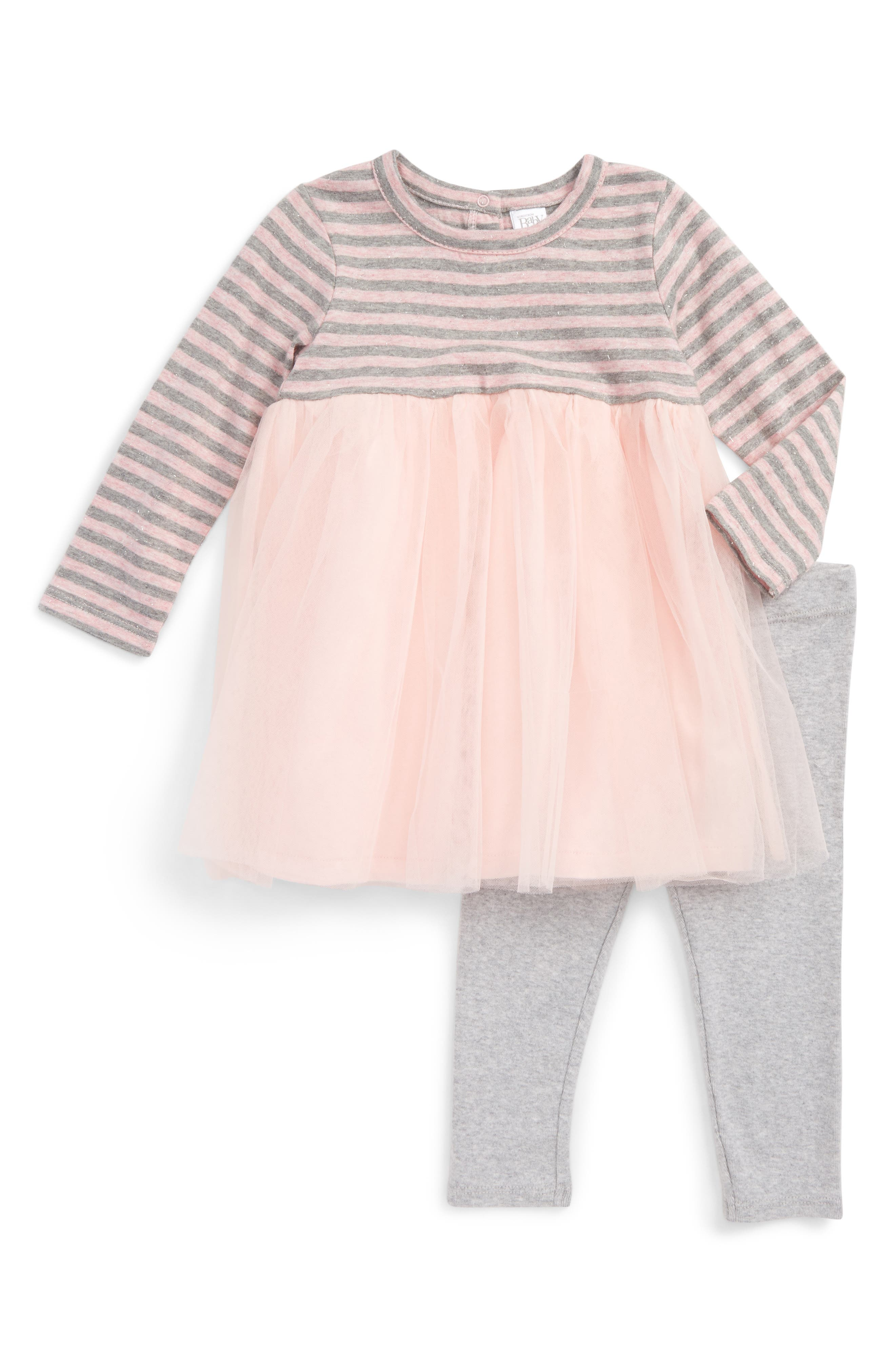 Main Image - Nordstrom Baby Dress & Leggings Set (Baby Girls)
