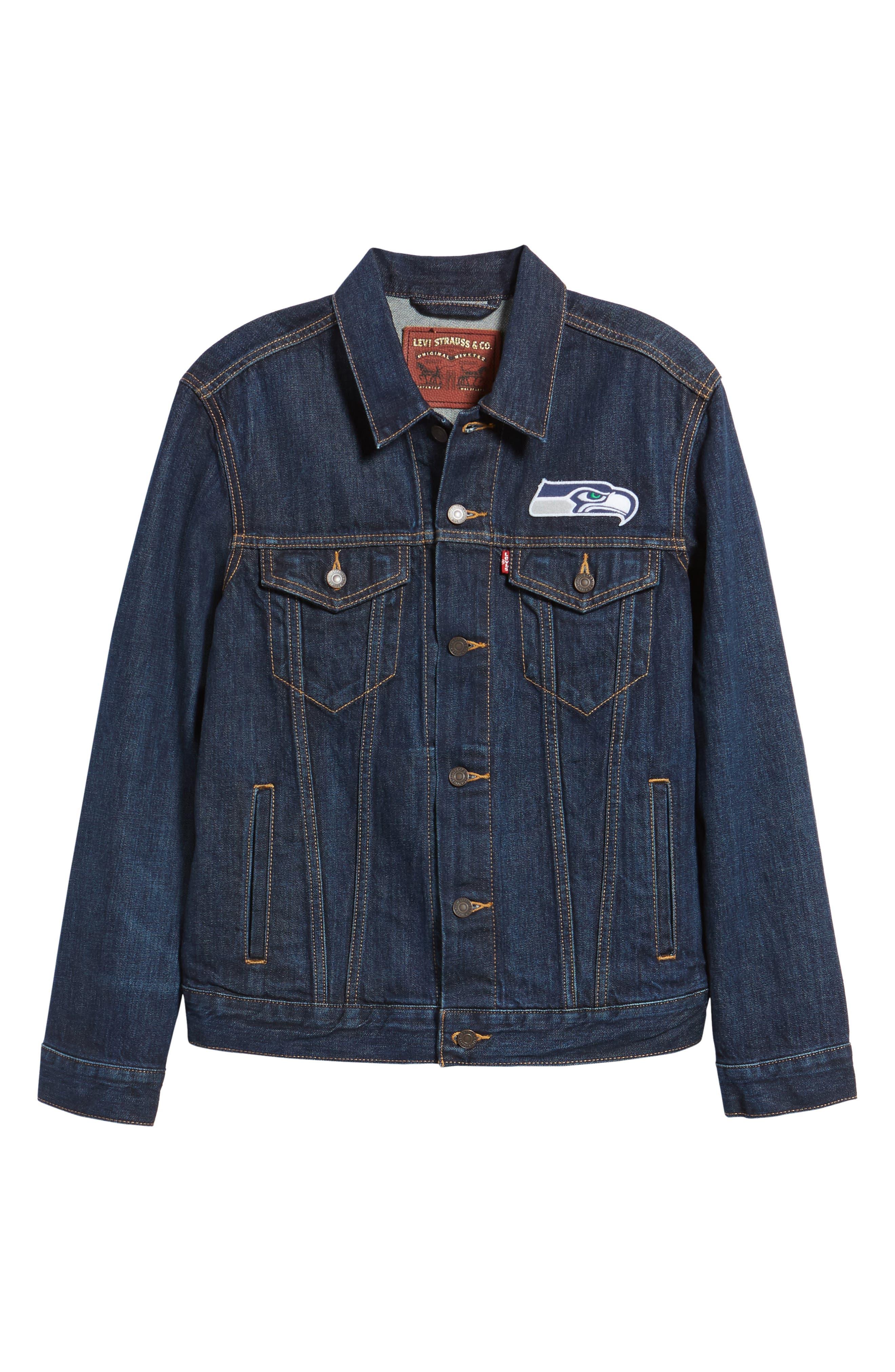 Alternate Image 6  - Levi's® Seattle Seahawks Denim Trucker Jacket