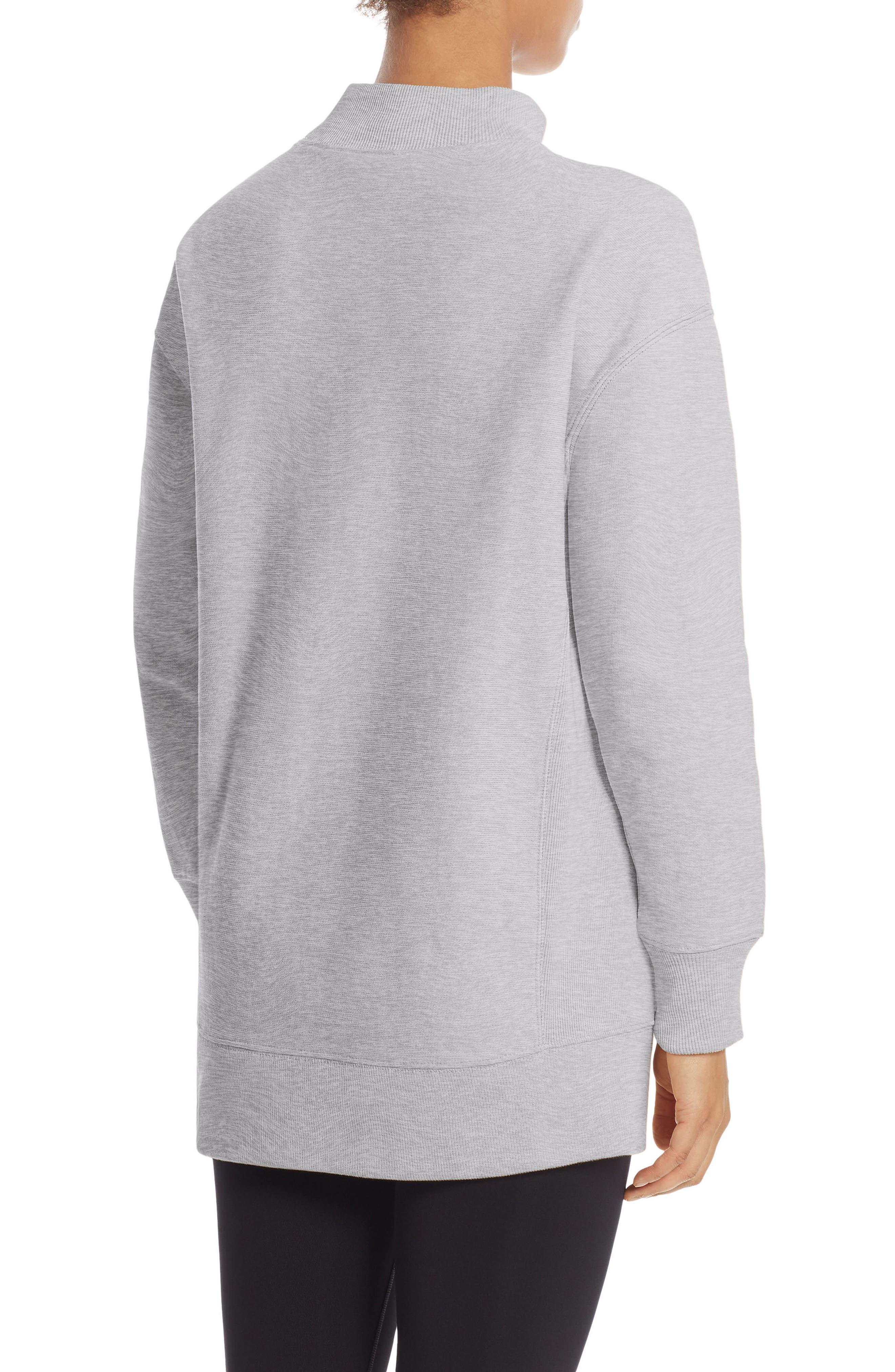 Reverse Weave<sup>®</sup> High Neck Sweatshirt,                             Alternate thumbnail 2, color,                             Oxford Grey
