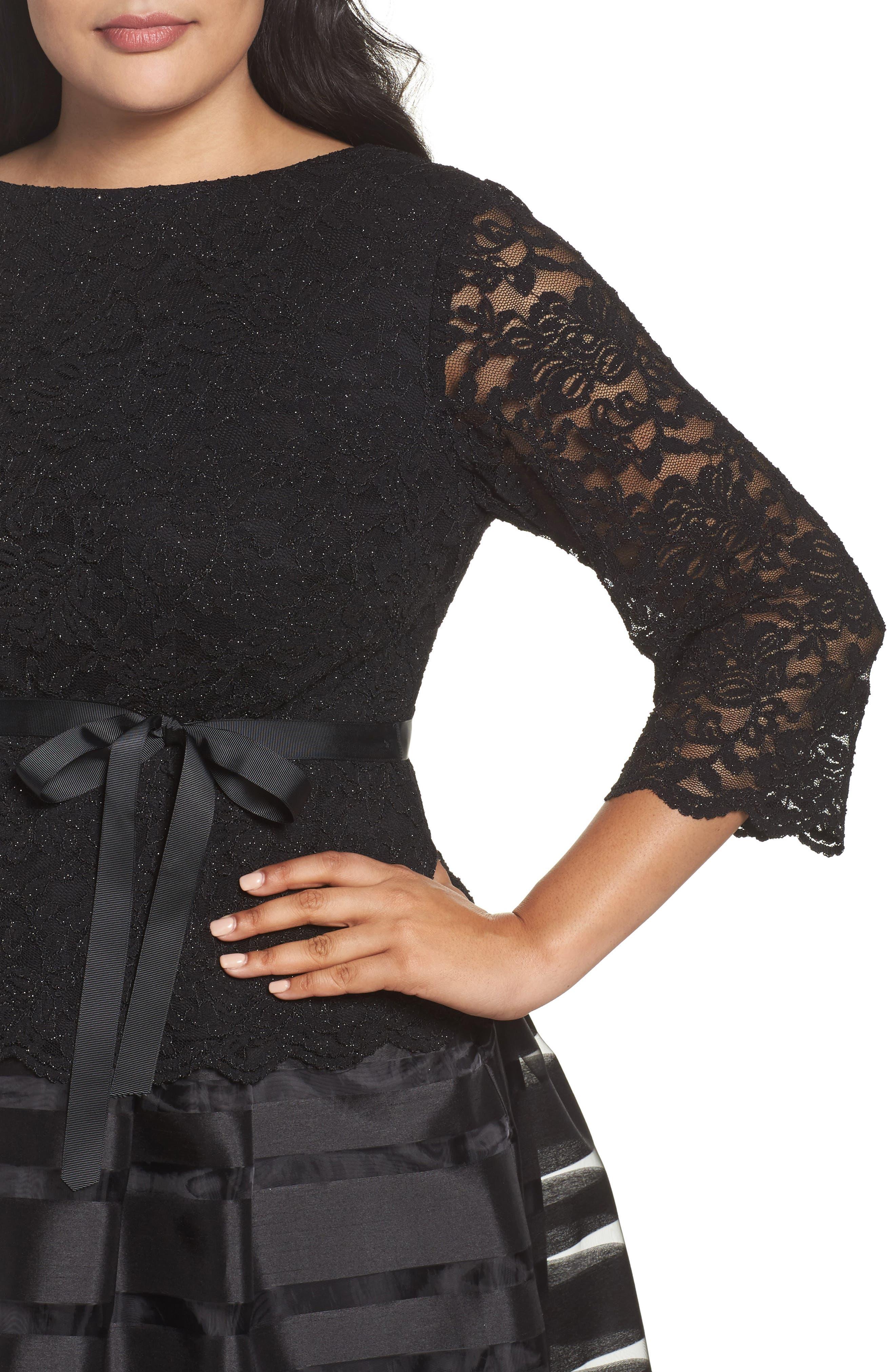 Alternate Image 4  - Alex Evenings Mock Two-Piece A-Line Midi Dress (Plus Size)