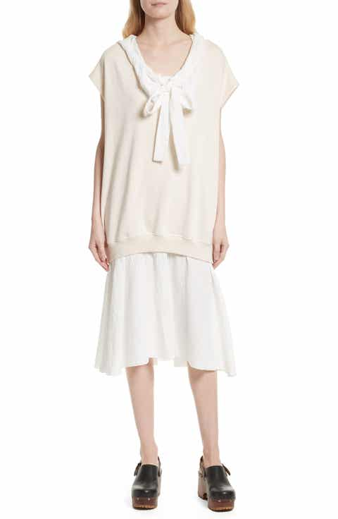 See by Chlo? Hooded Sweatshirt Overlay Dress