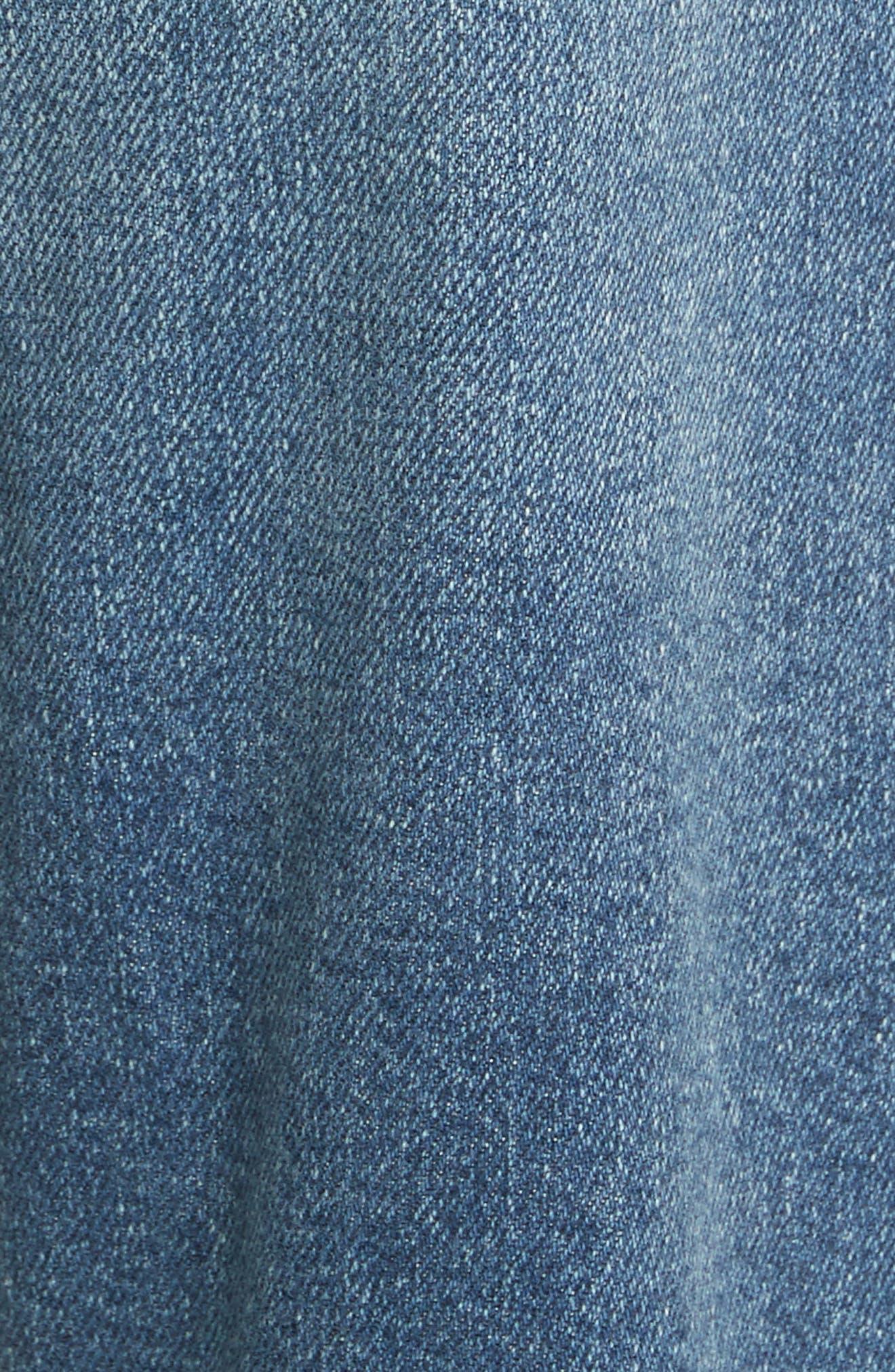 Nouveau Le Straight Raw Hem Jeans,                             Alternate thumbnail 5, color,                             Sackett