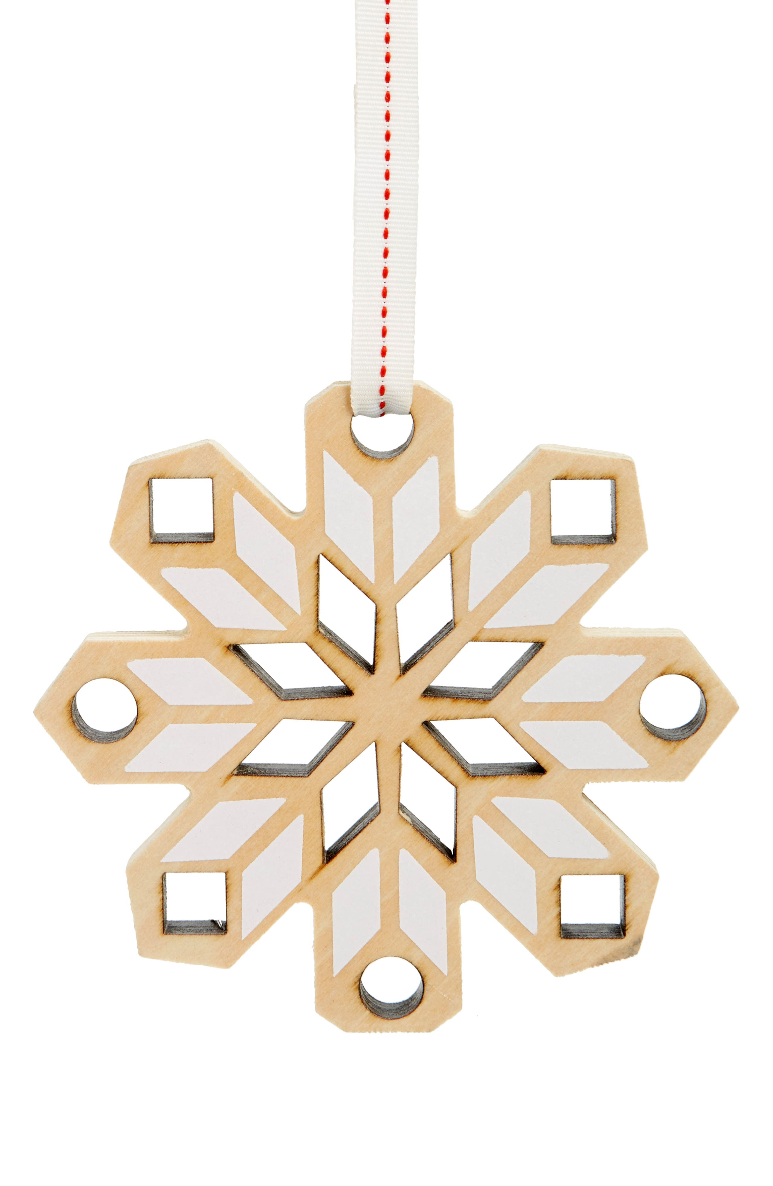 Nordstrom at Home Snowflake Wooden Ornament
